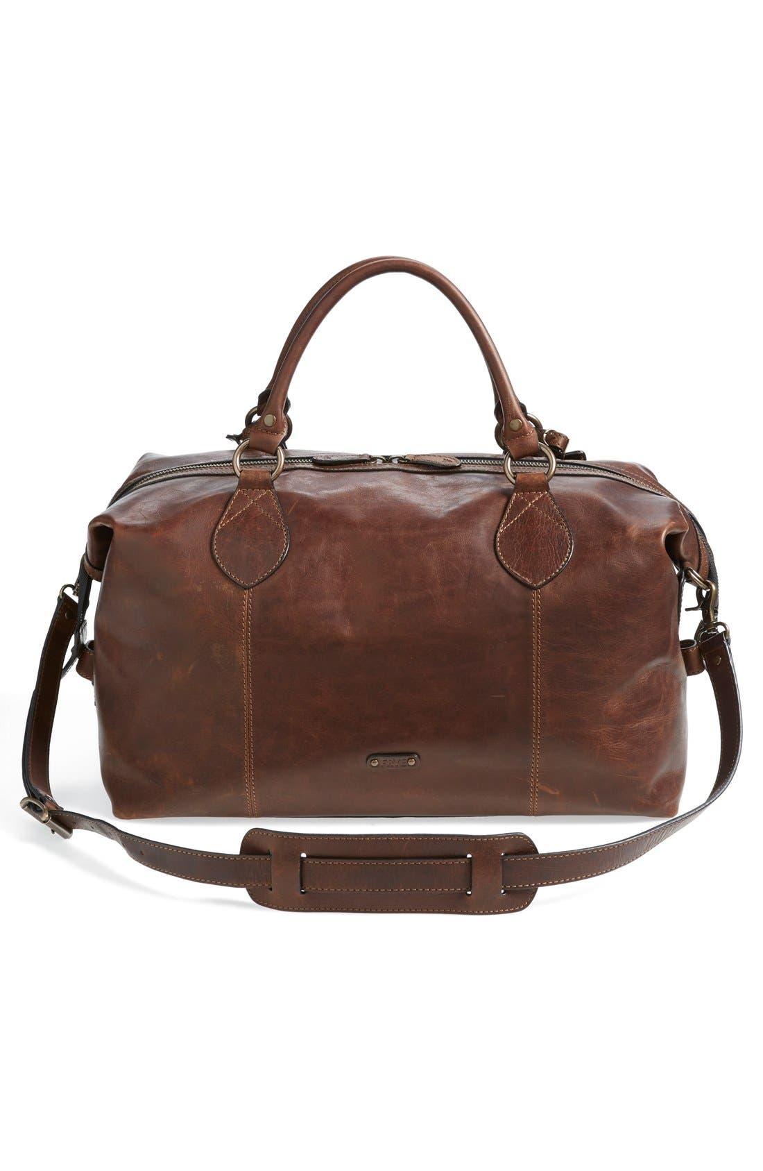 Alternate Image 4  - Frye 'Logan' Leather Overnight Bag (Online Only)