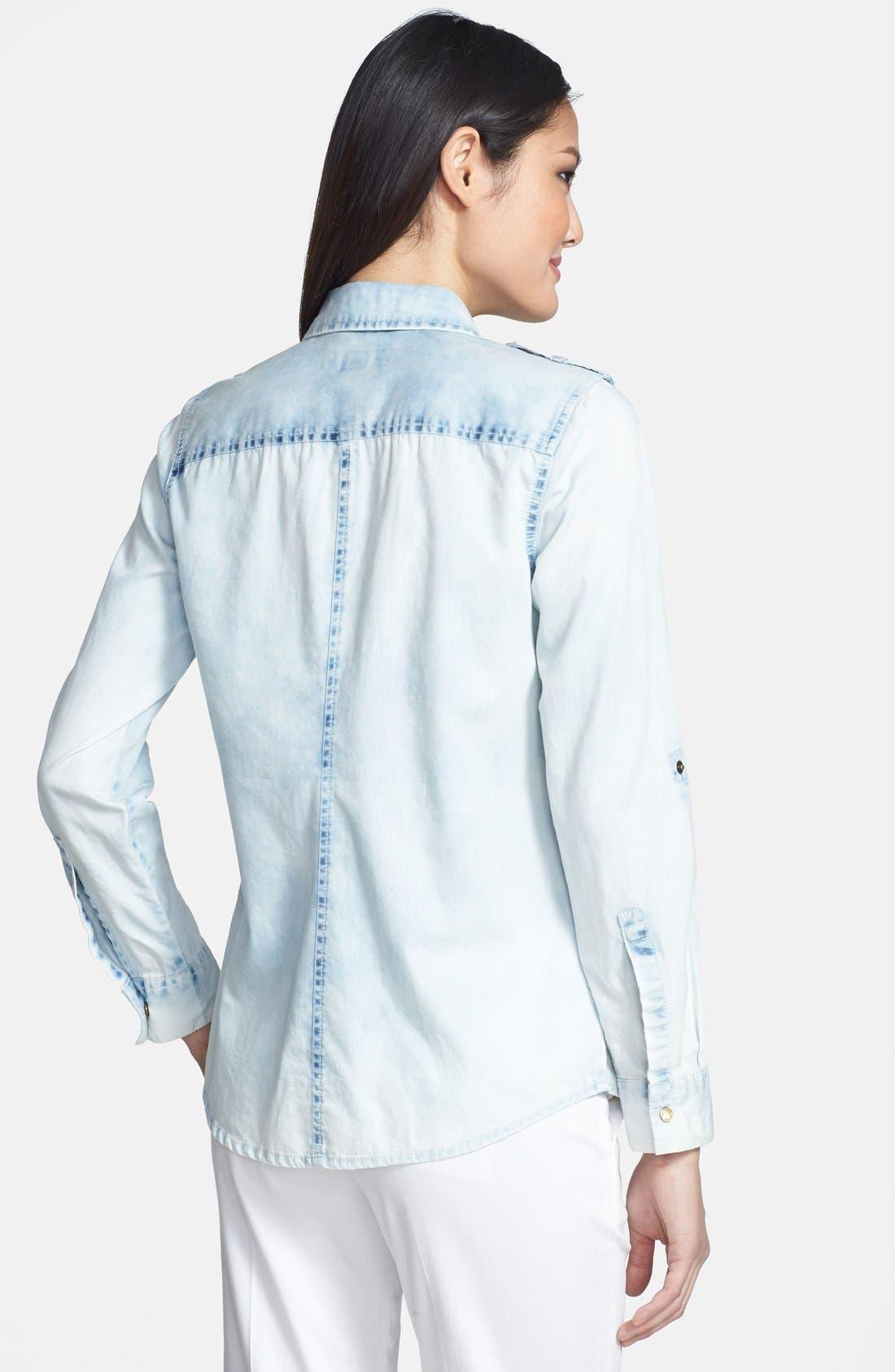 Alternate Image 2  - MICHAEL Michael Kors Military Denim Shirt