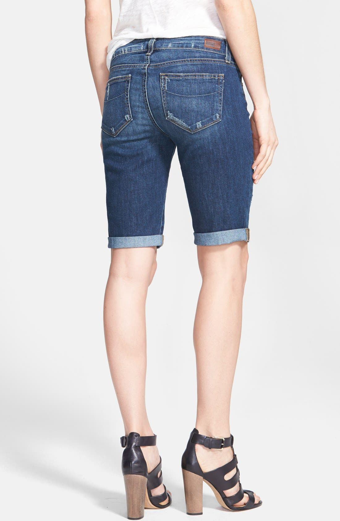 Alternate Image 2  - Paige Denim 'Jax' Cuffed Denim Knee Shorts (Luca)