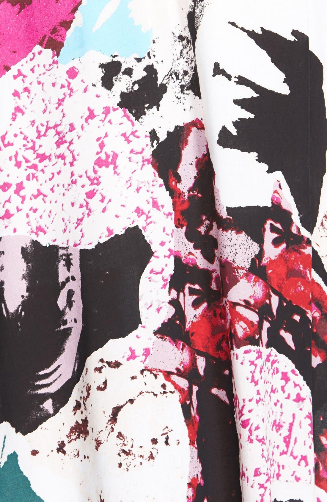 Alternate Image 3  - Tildon 'Shirttail' Floral Print Skirt
