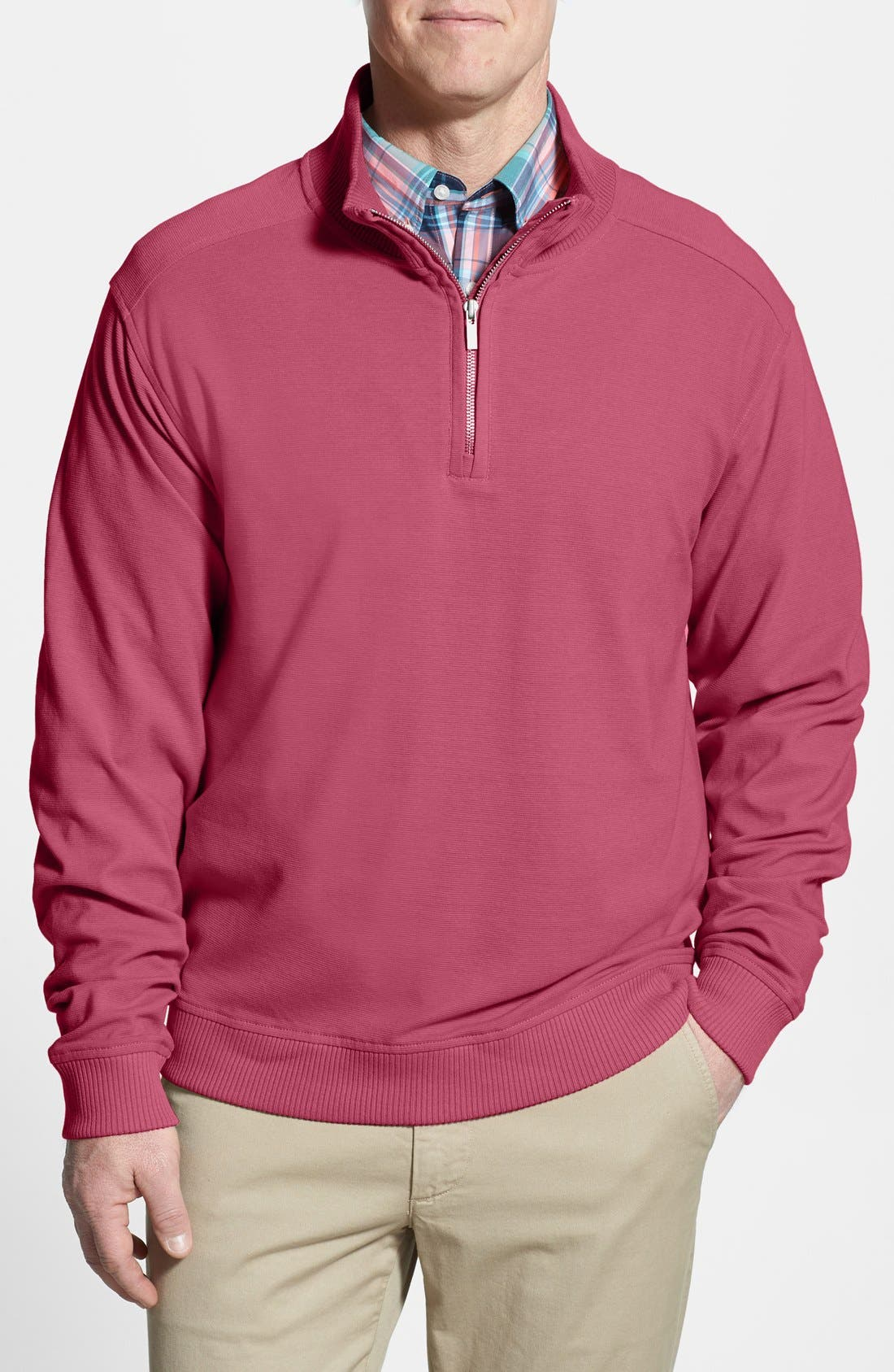 Alternate Image 1 Selected - Cutter & Buck 'Rylands' Half Zip Pullover (Big & Tall)