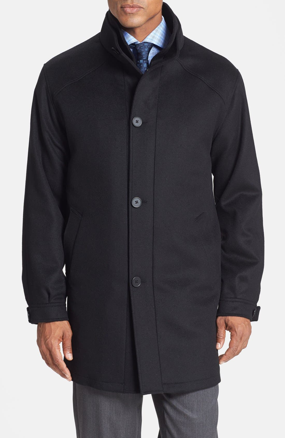 Alternate Image 1 Selected - Cardinal of Canada Classic Fit Wool Blend Topcoat