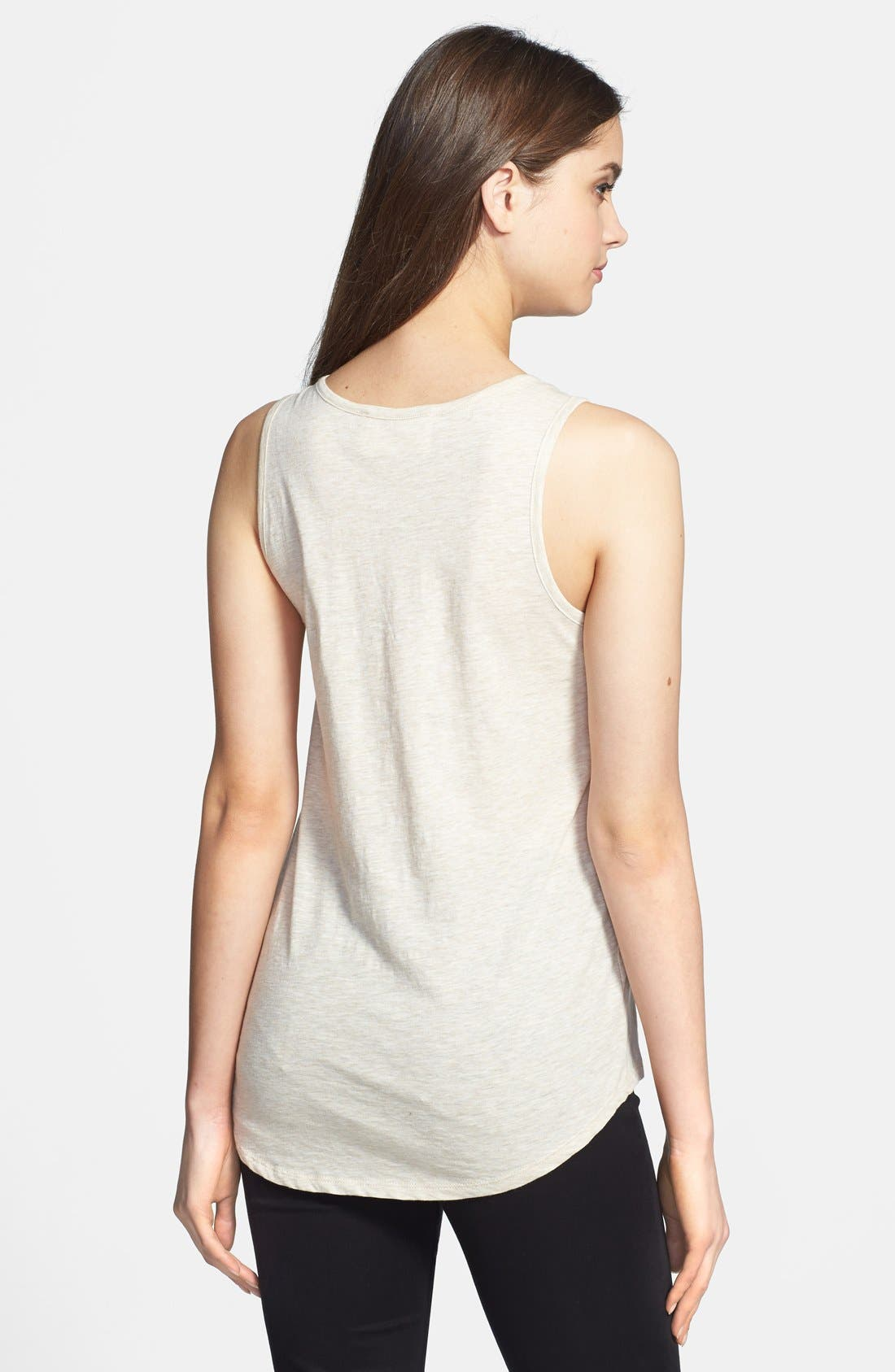 Alternate Image 2  - Two by Vince Camuto Embellished Neckline Cotton Tank
