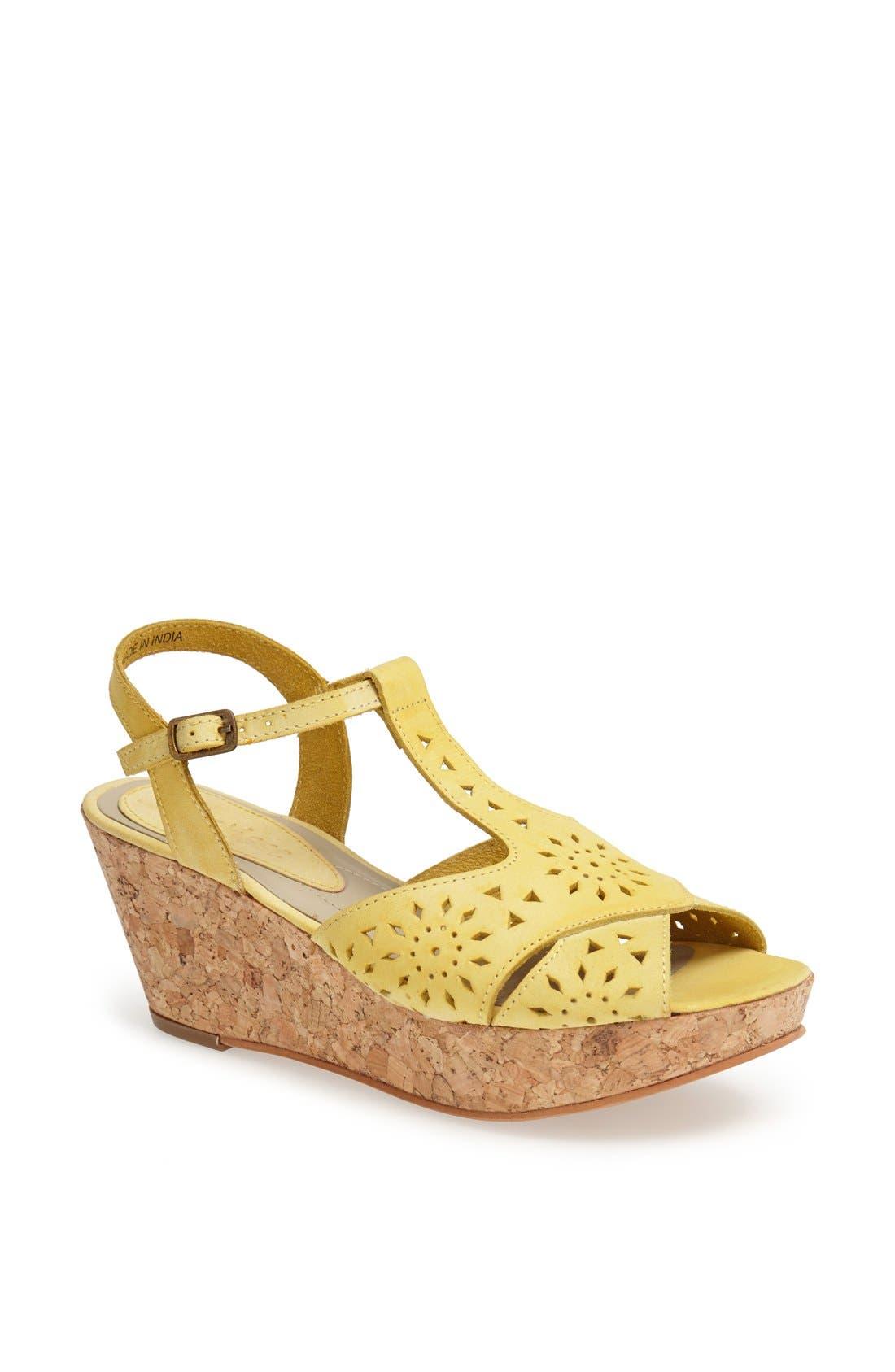 Alternate Image 1 Selected - Matisse 'Sweet' Leather T-Strap Wedge Sandal