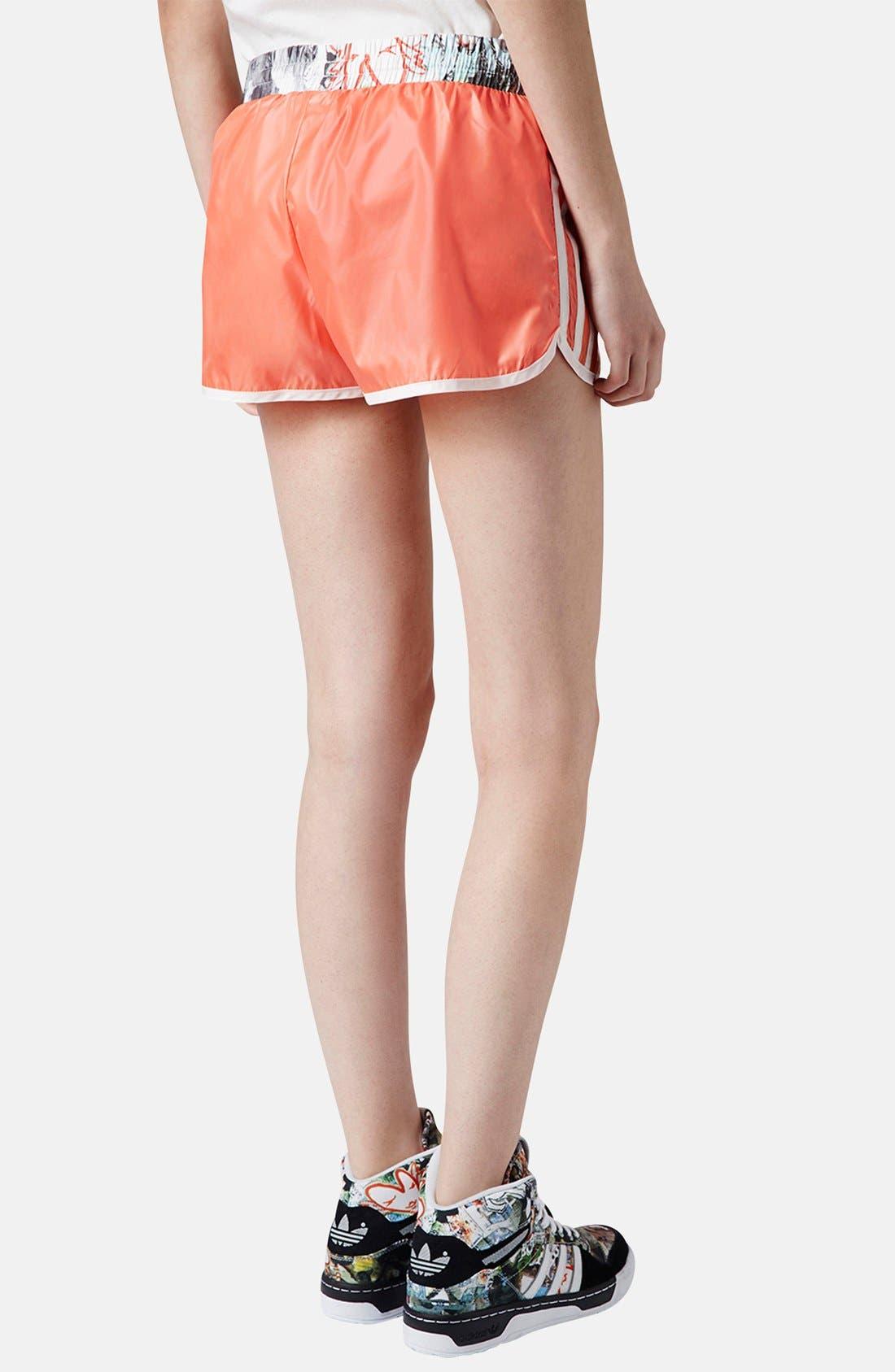 Alternate Image 2  - Topshop x adidas Originals Orange Shorts