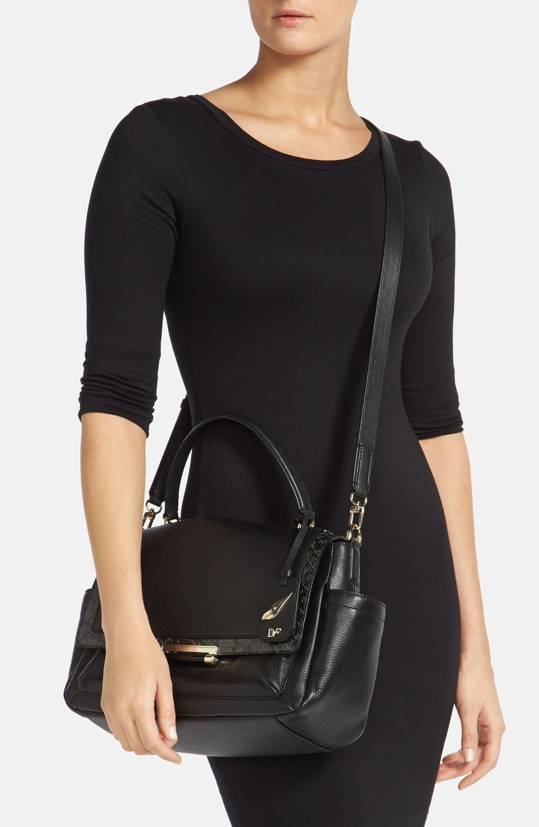 Alternate Image 2  - Diane von Furstenberg '440 Courier' Leather Top Handle Satchel