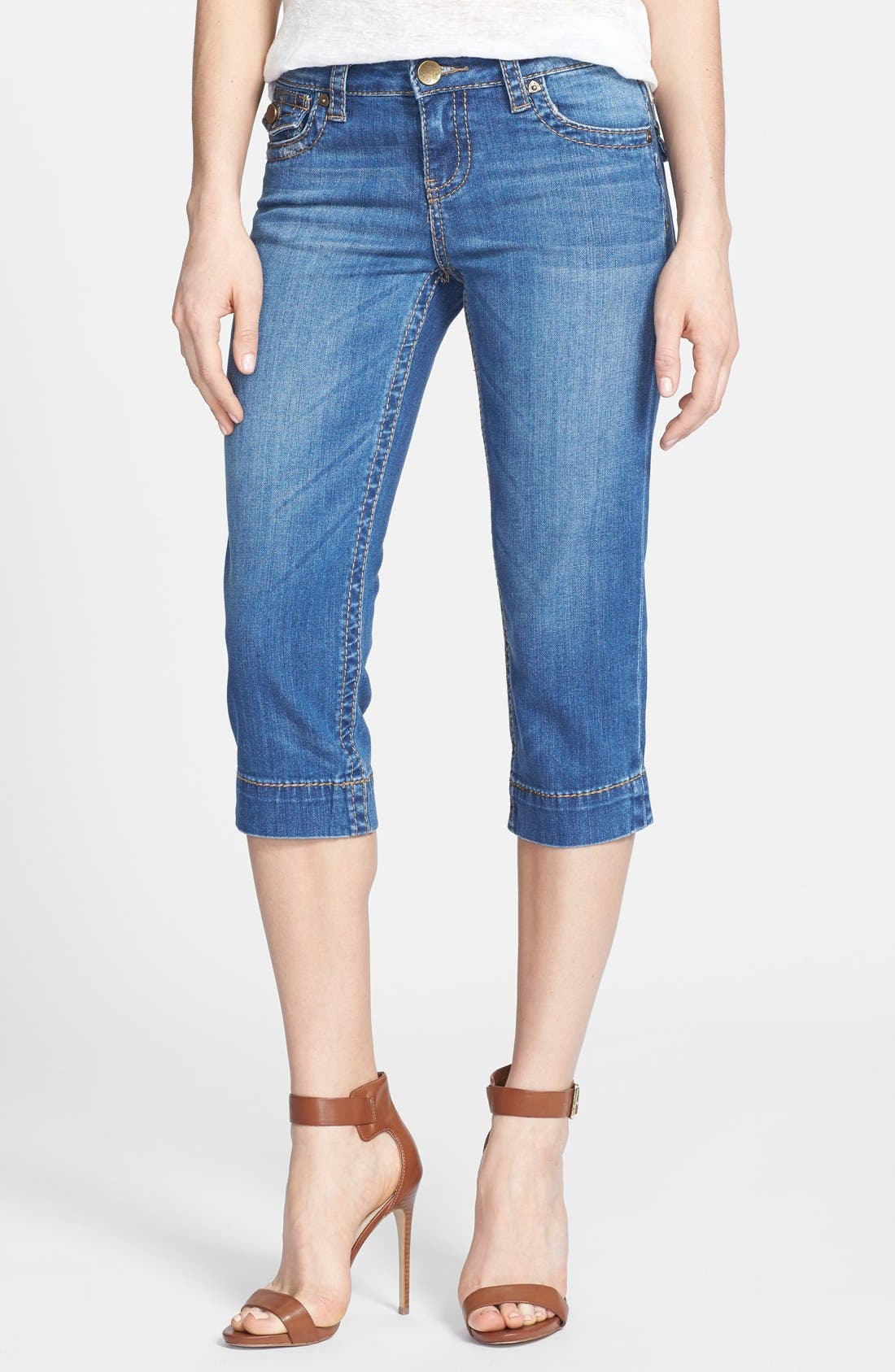 Alternate Image 1 Selected - KUT from the Kloth 'Natalie' Crop Jeans (Function)
