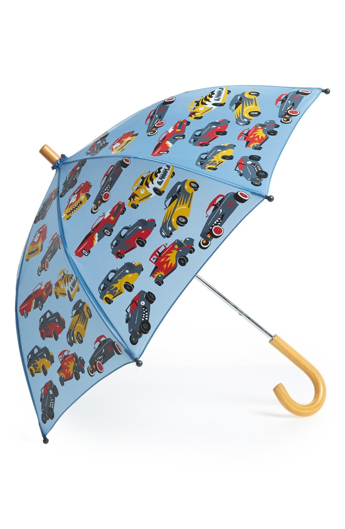 Alternate Image 1 Selected - Hatley 'Hot Rods' Print Umbrella (Kids)