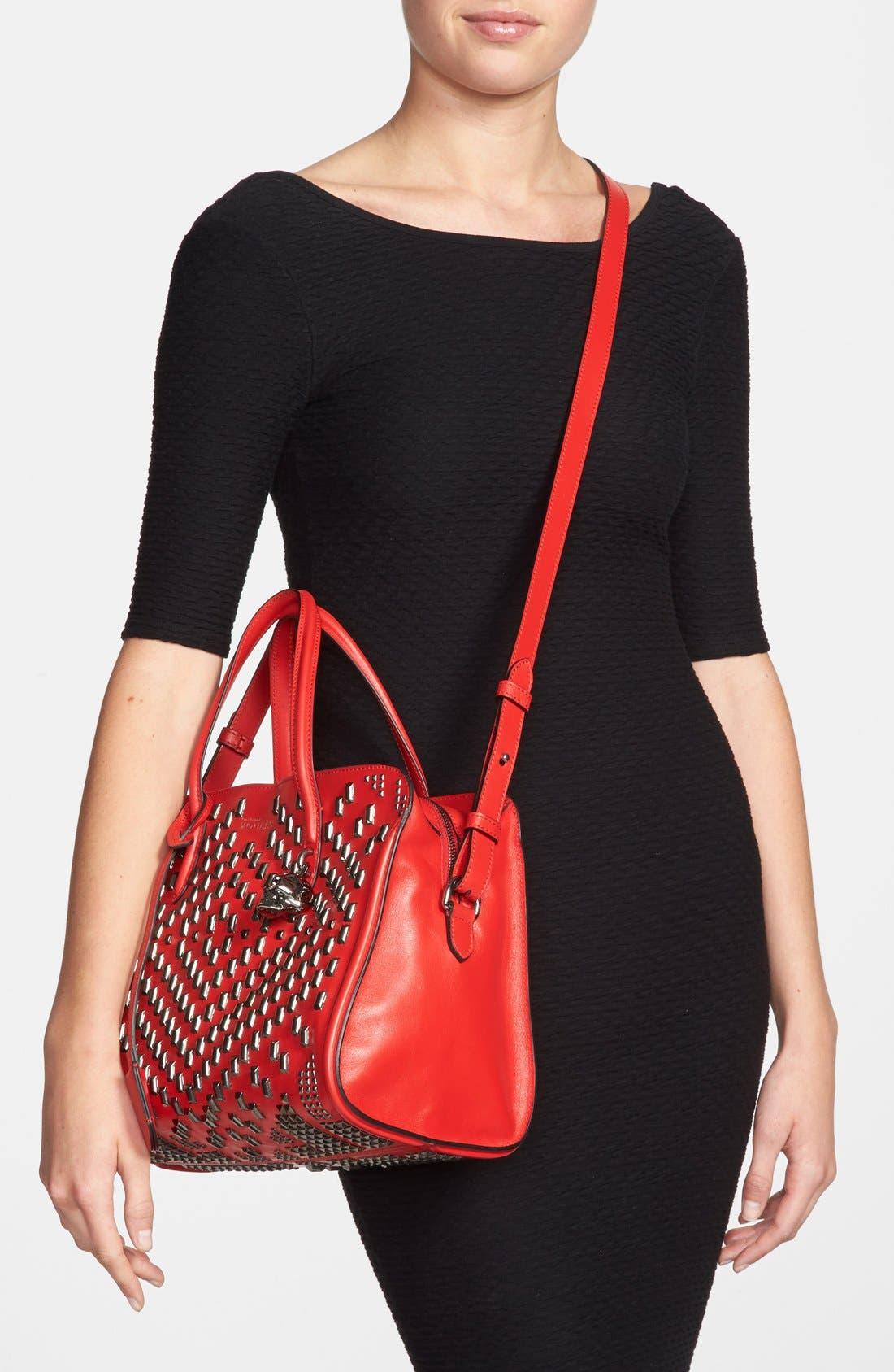 Alternate Image 2  - Alexander McQueen 'Small Padlock' Studded Duffel Bag