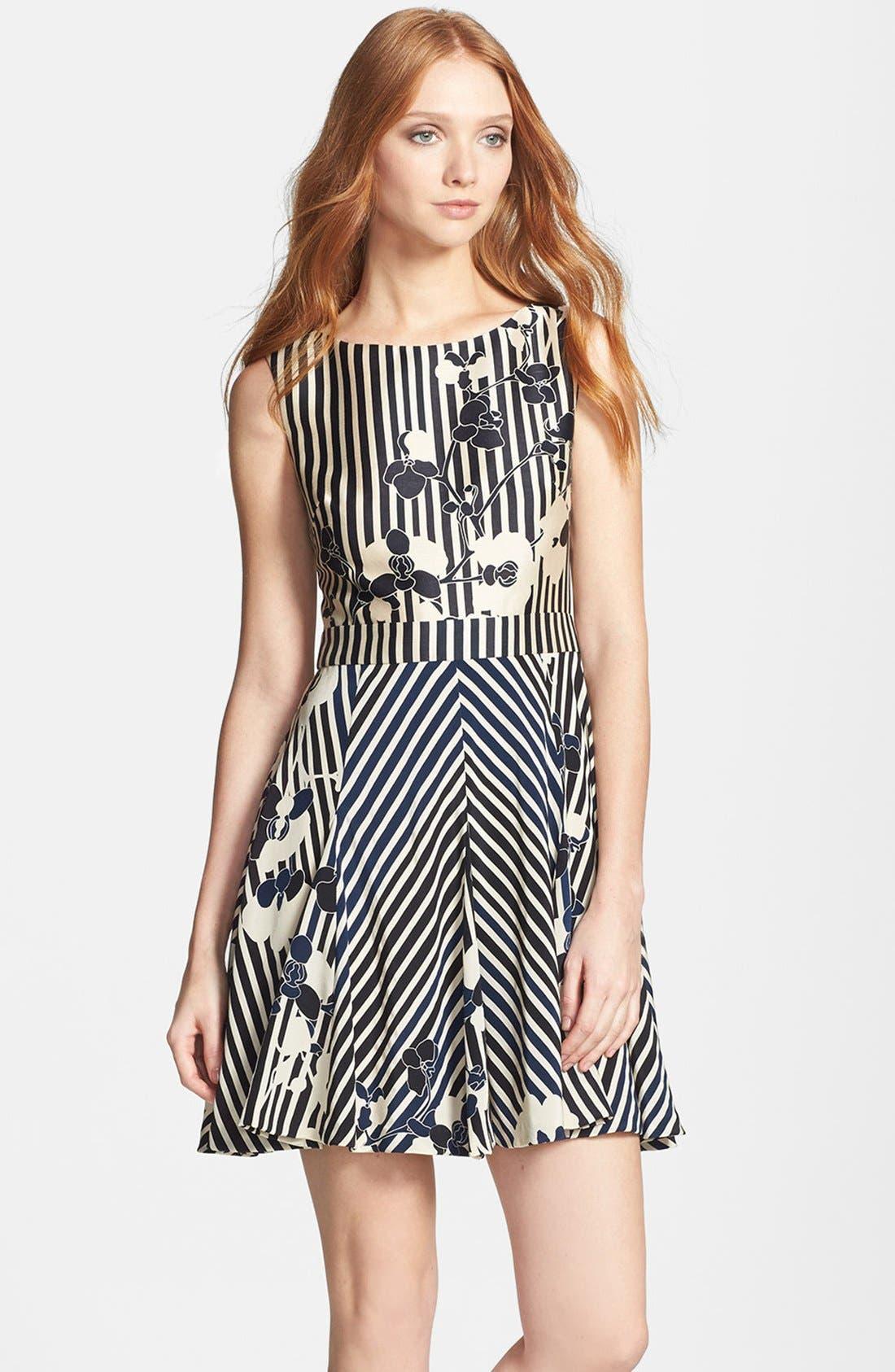 Alternate Image 1 Selected - Diane von Furstenberg 'Kiman' Print Wool Blend A-Line Dress