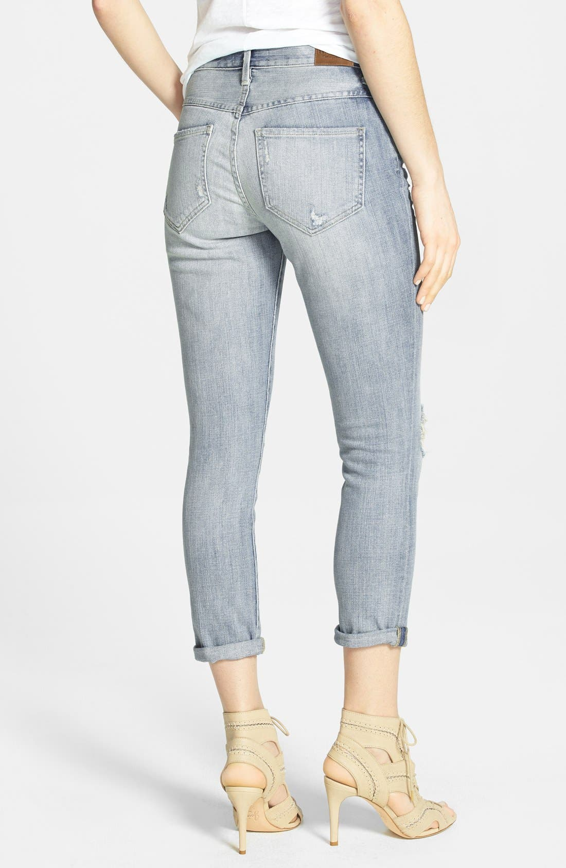 Alternate Image 2  - Wildfox 'Marissa' Distressed Crop Jeans (Secret)