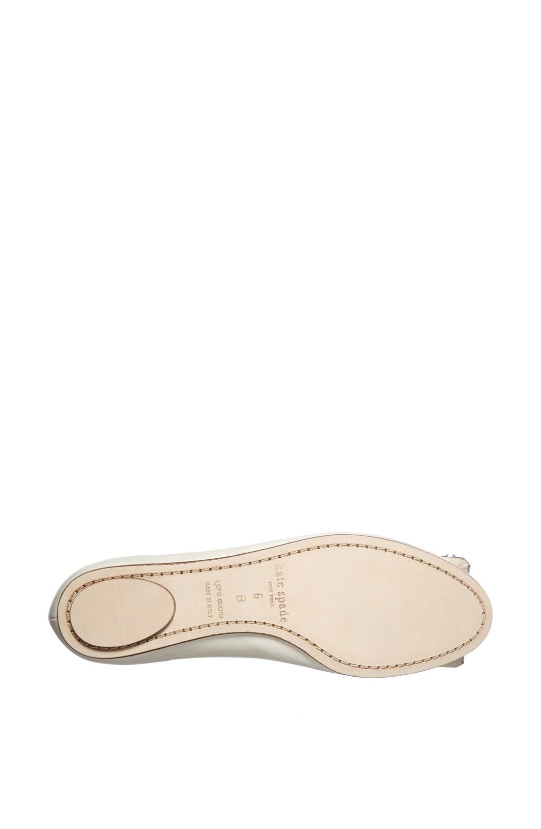 Alternate Image 3  - kate spade new york 'brilliant' nappa leather flat
