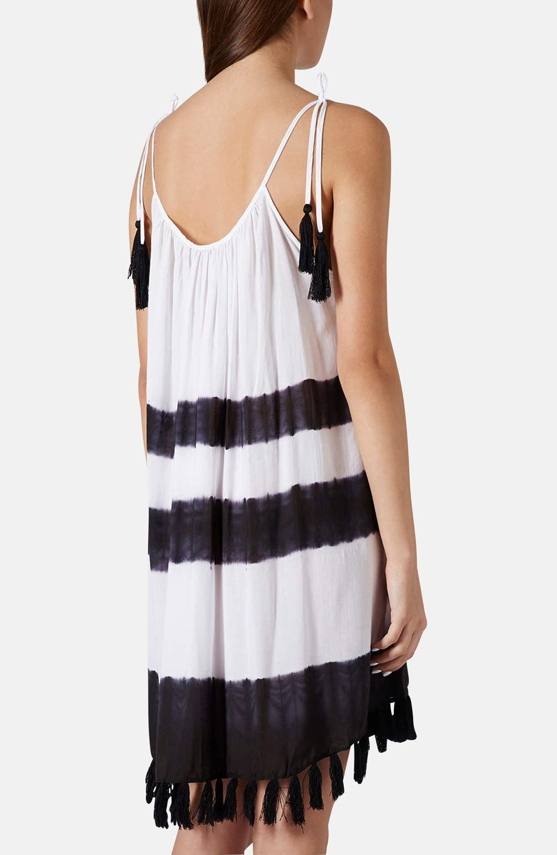 Alternate Image 2  - Topshop Tassel Hem Tie Dye Cover-Up