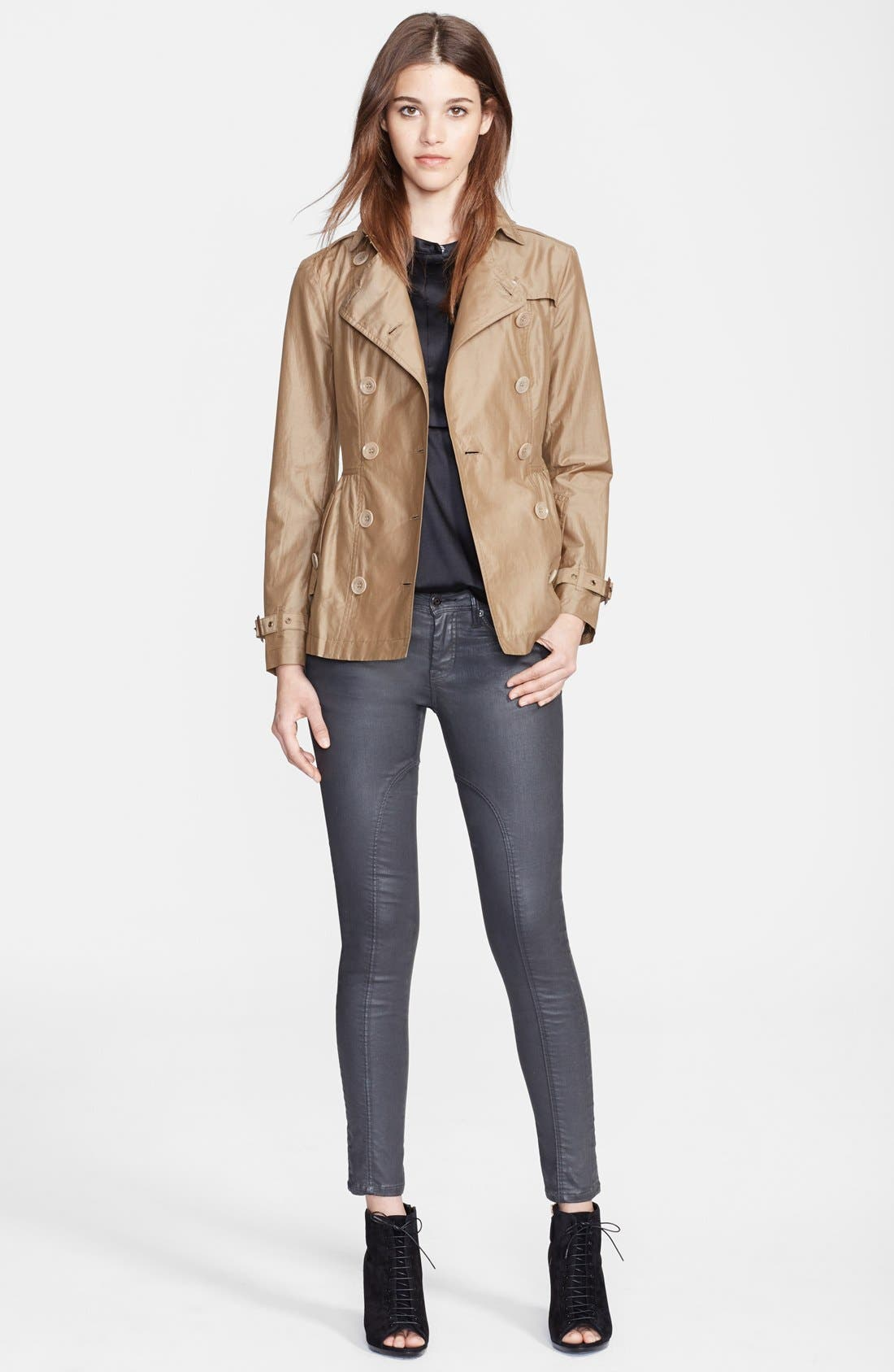 Alternate Image 4  - Burberry Brit 'Harpsfield' Cotton & Silk Double Breasted Jacket