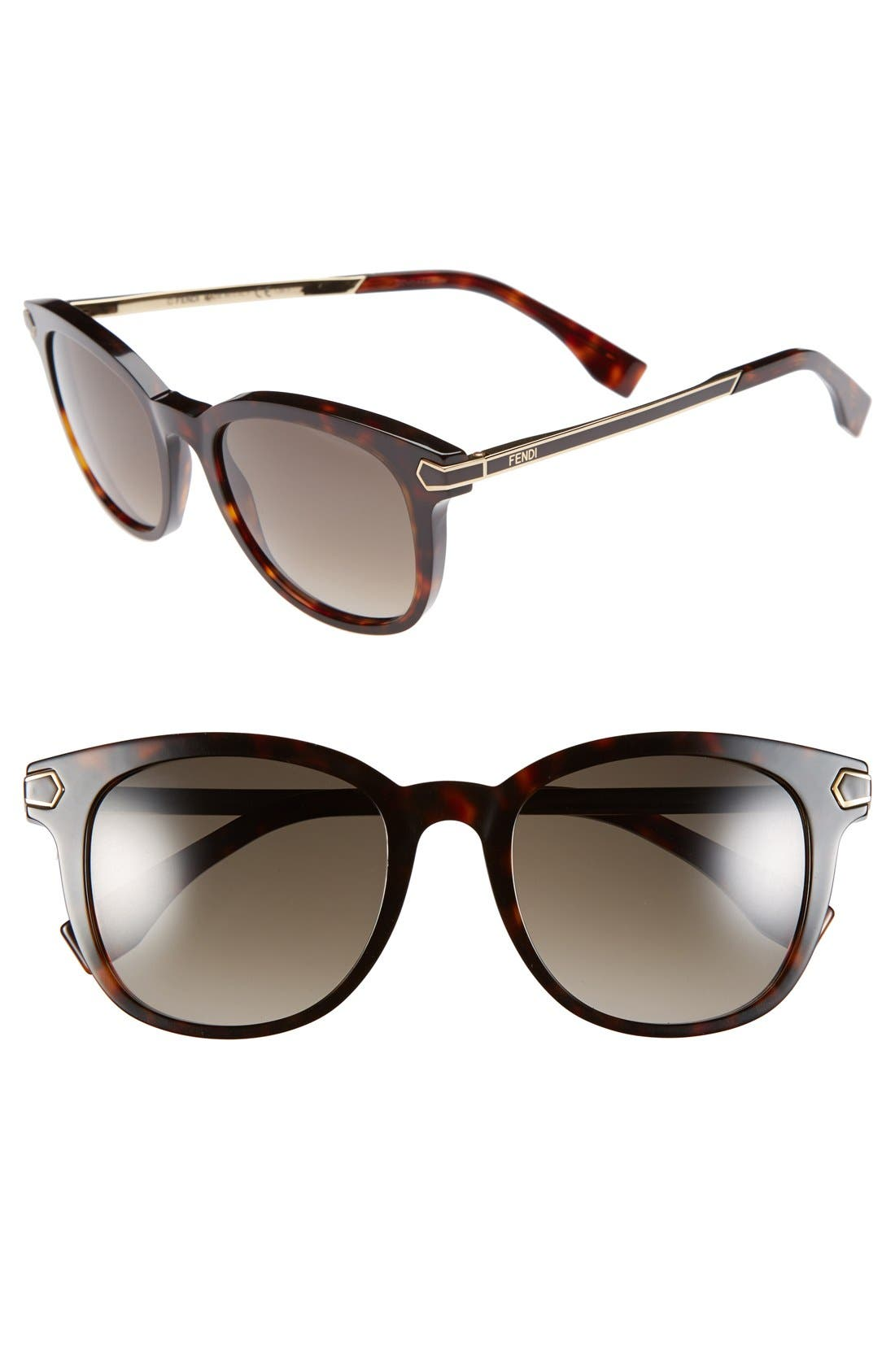 Alternate Image 1 Selected - Fendi 51mm Retro Sunglasses