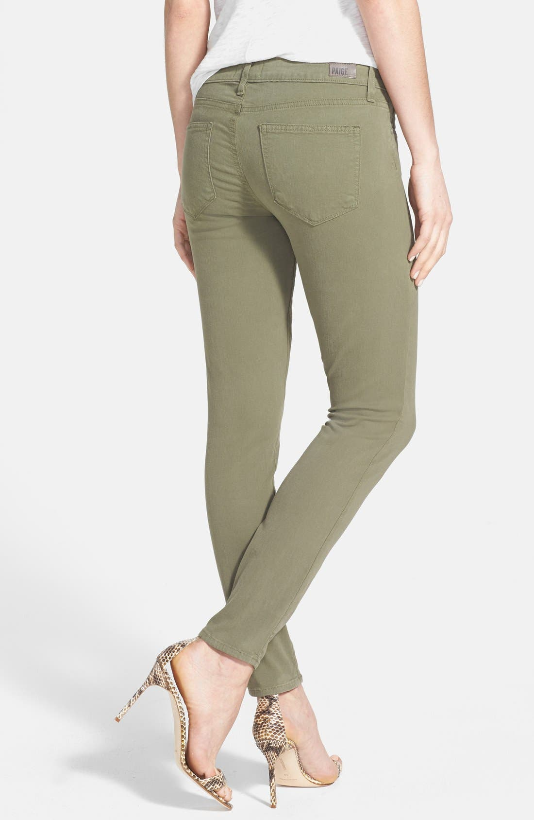 Alternate Image 2  - Paige Denim 'Verdugo' Ankle Skinny Jeans (Fatigue Green)