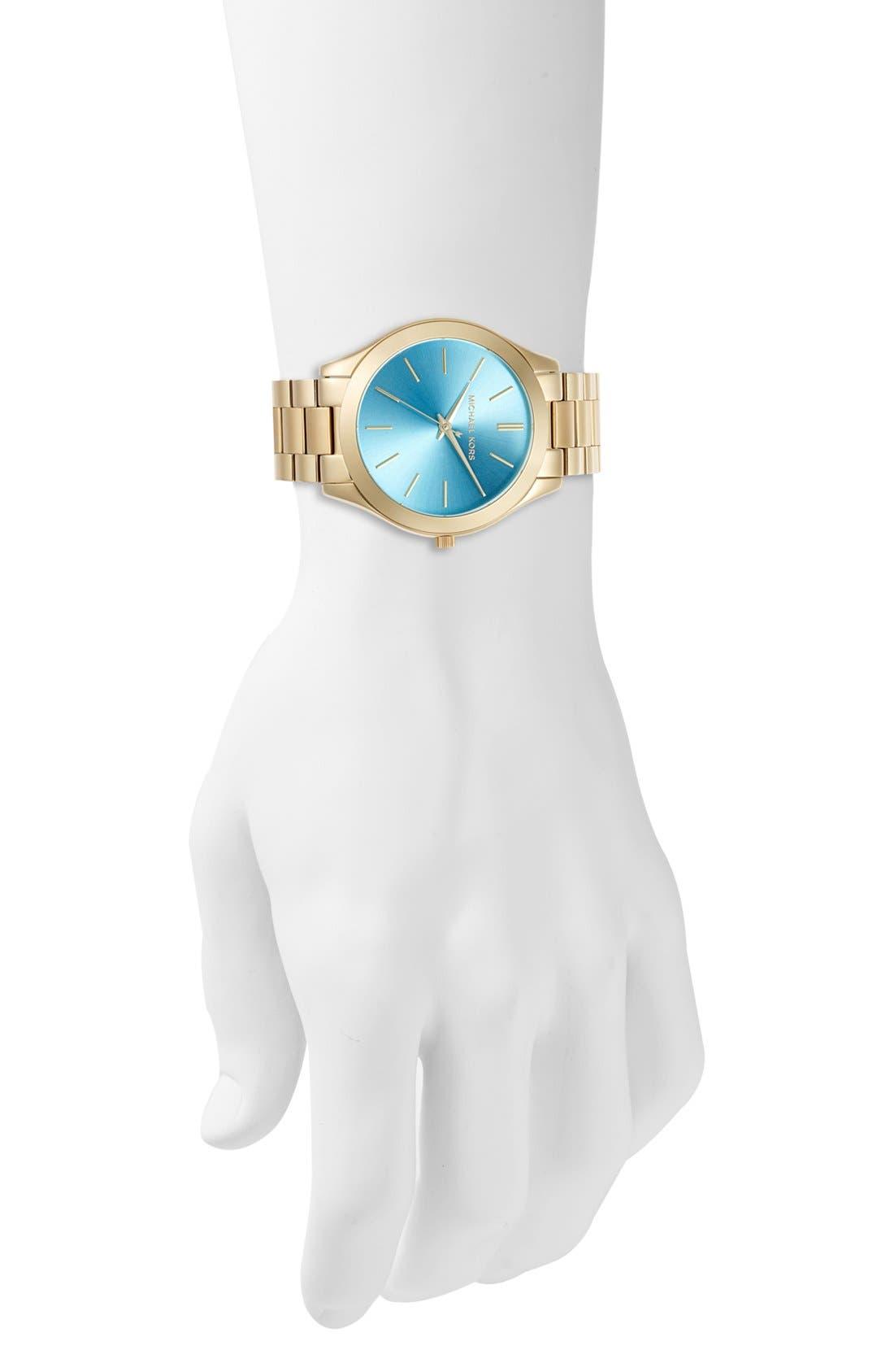 Alternate Image 4  - Michael Kors 'Slim Runway' Bracelet Watch, 42mm