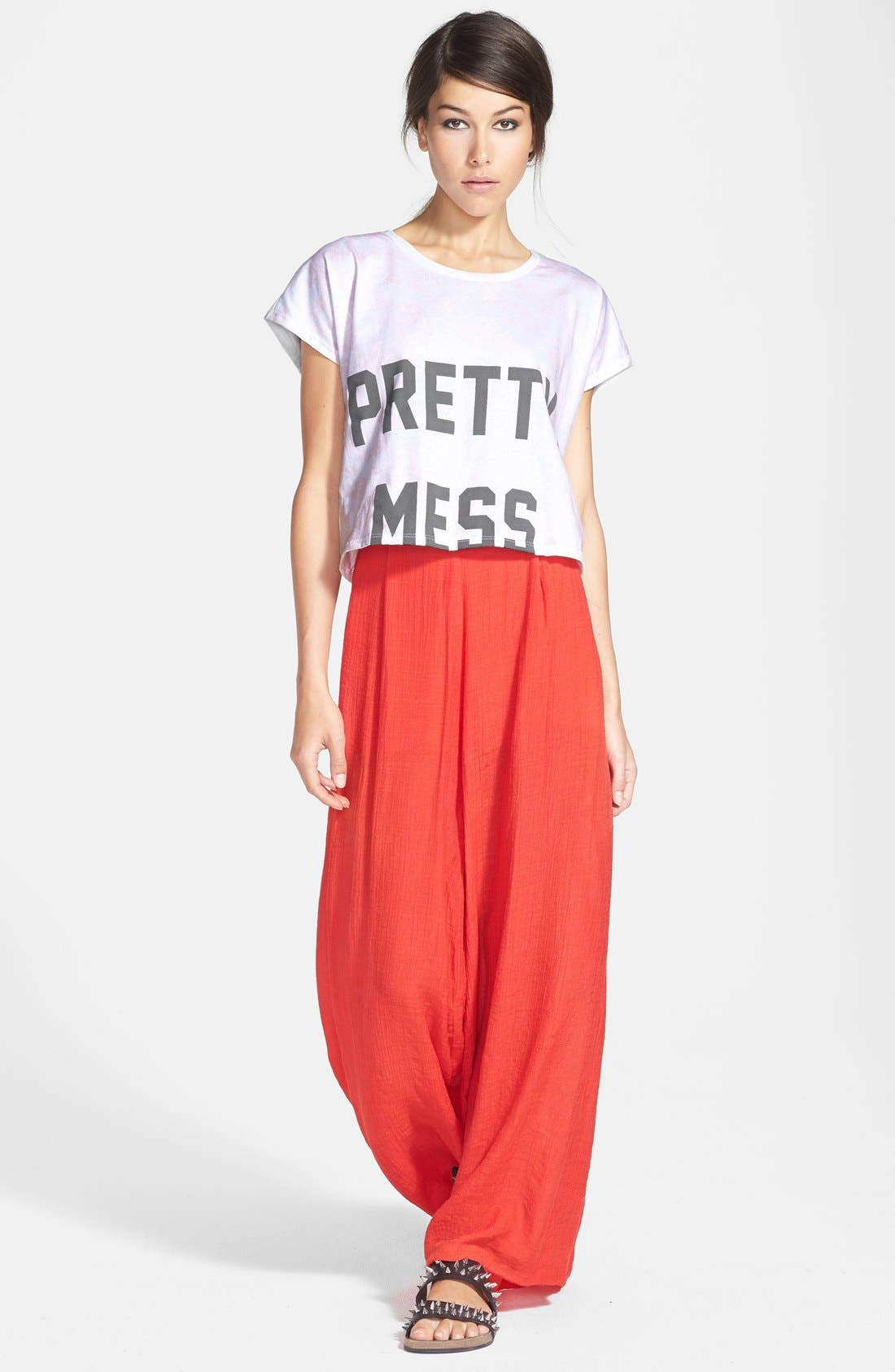 Alternate Image 4  - Rules of Etiquette Palazzo Pants