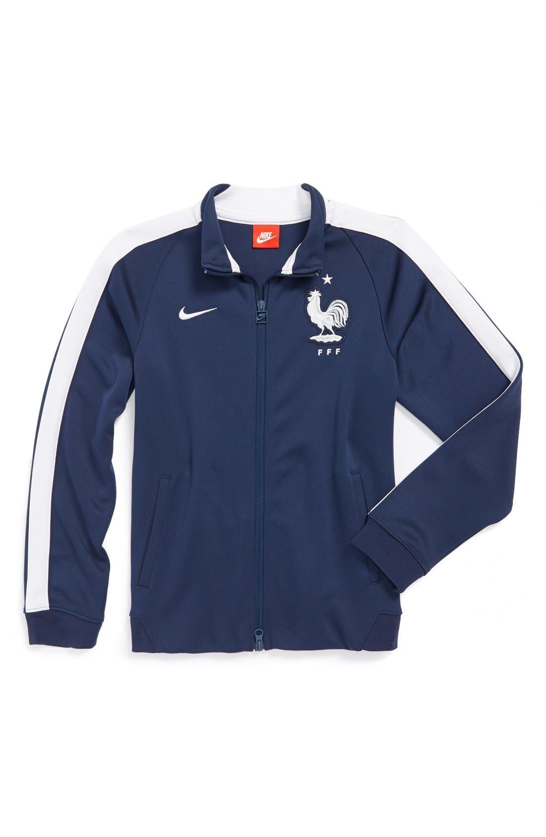 Alternate Image 1 Selected - Nike 'France FFF - N98 World Soccer Authentic' Track Jacket (Big Boys)
