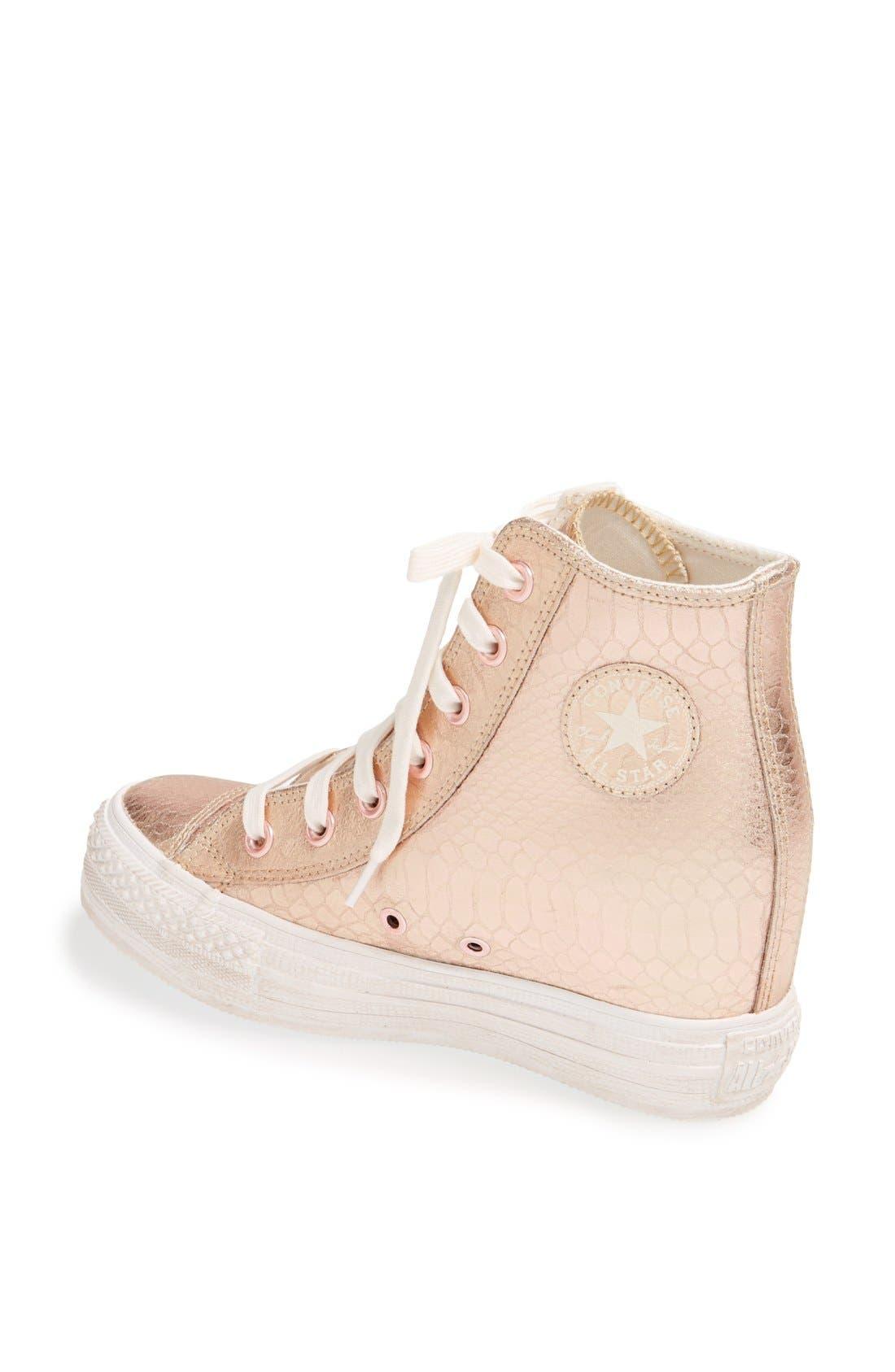 Alternate Image 2  - Chuck Taylor® All Star® 'Platform Plus' Hidden Wedge Leather High-Top Sneaker (Women)