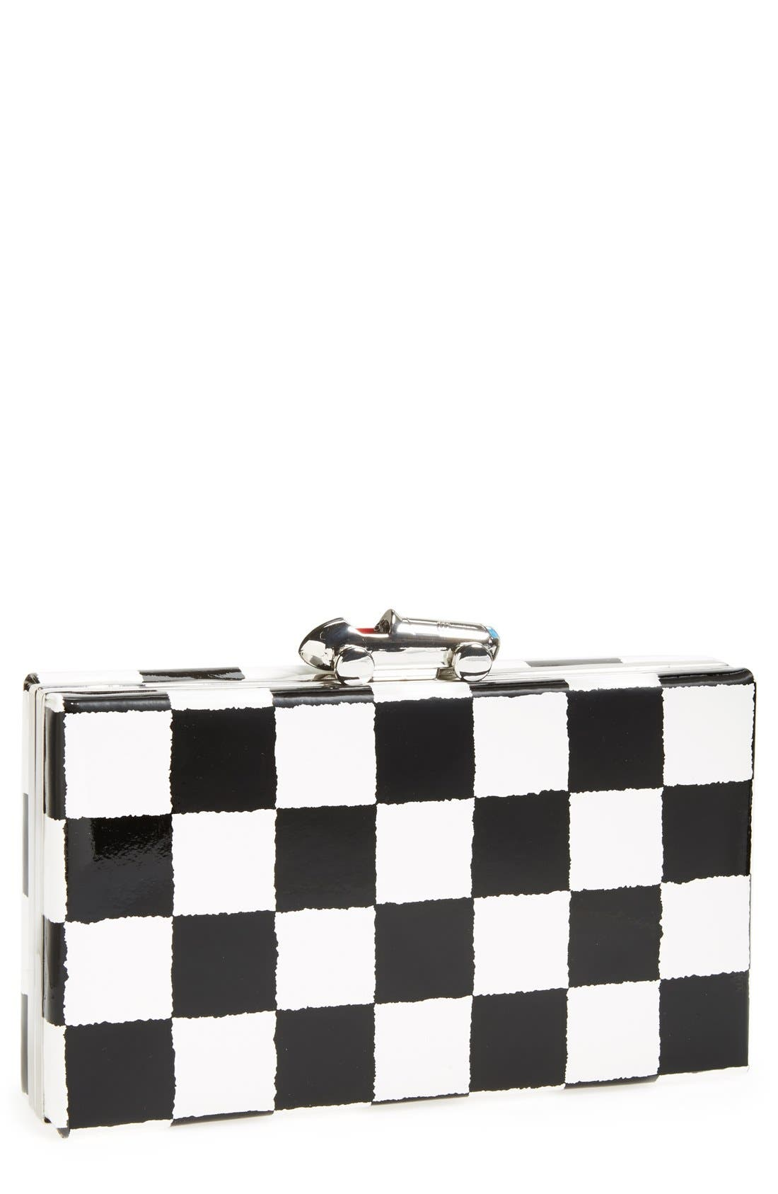 Alternate Image 1 Selected - kate spade new york 'marcelle' patent leather clutch