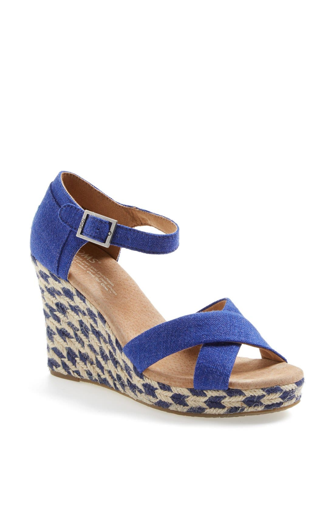 Alternate Image 1 Selected - TOMS 'Mixed Rope' Wedge Sandal