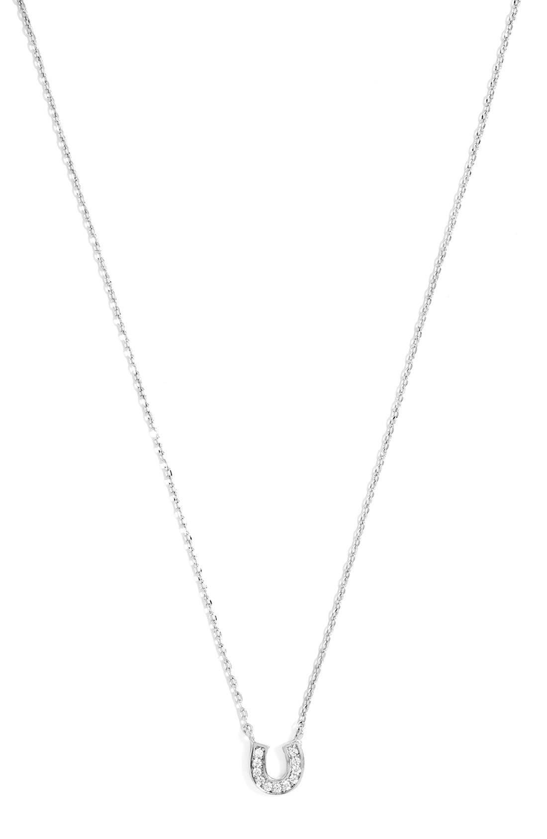 Main Image - BaubleBar 'Ice' Horseshoe Pendant Necklace (Online Only)