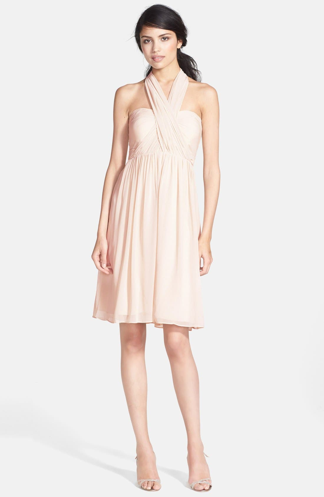 Alternate Image 4  - Jenny Yoo 'Keira' Convertible Strapless Chiffon Dress