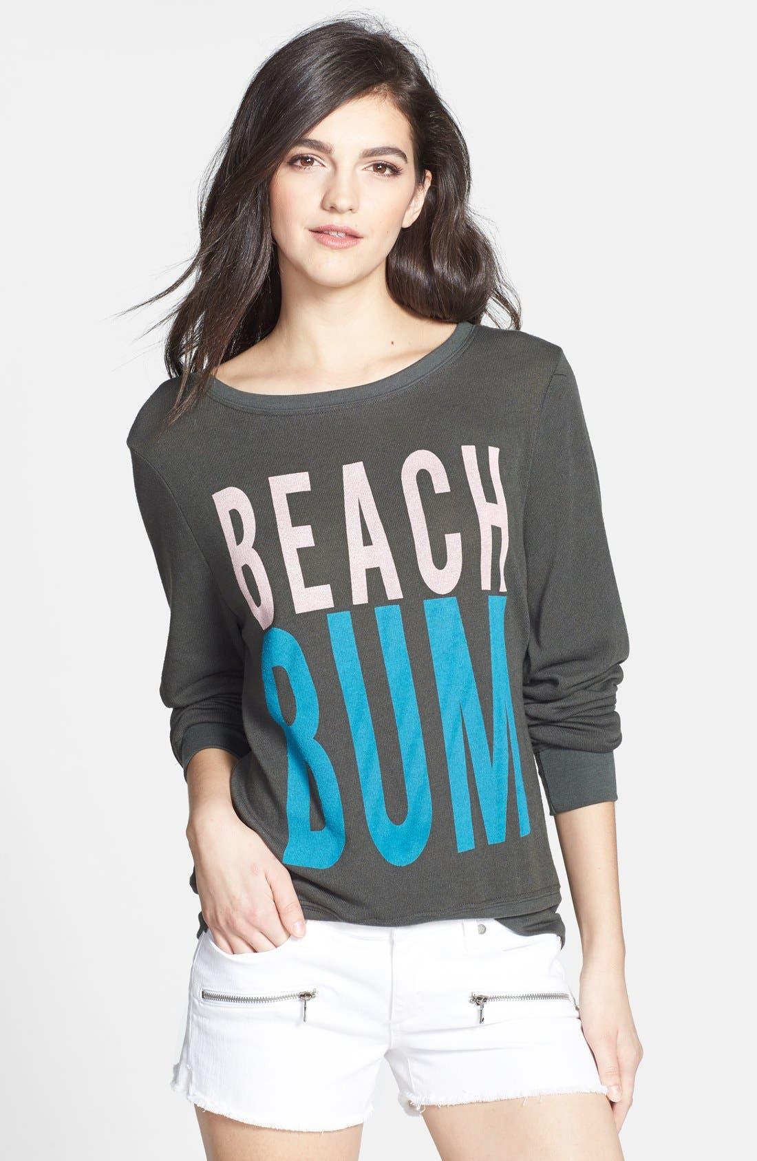 Alternate Image 1 Selected - Wildfox 'Beach Bum' Pullover