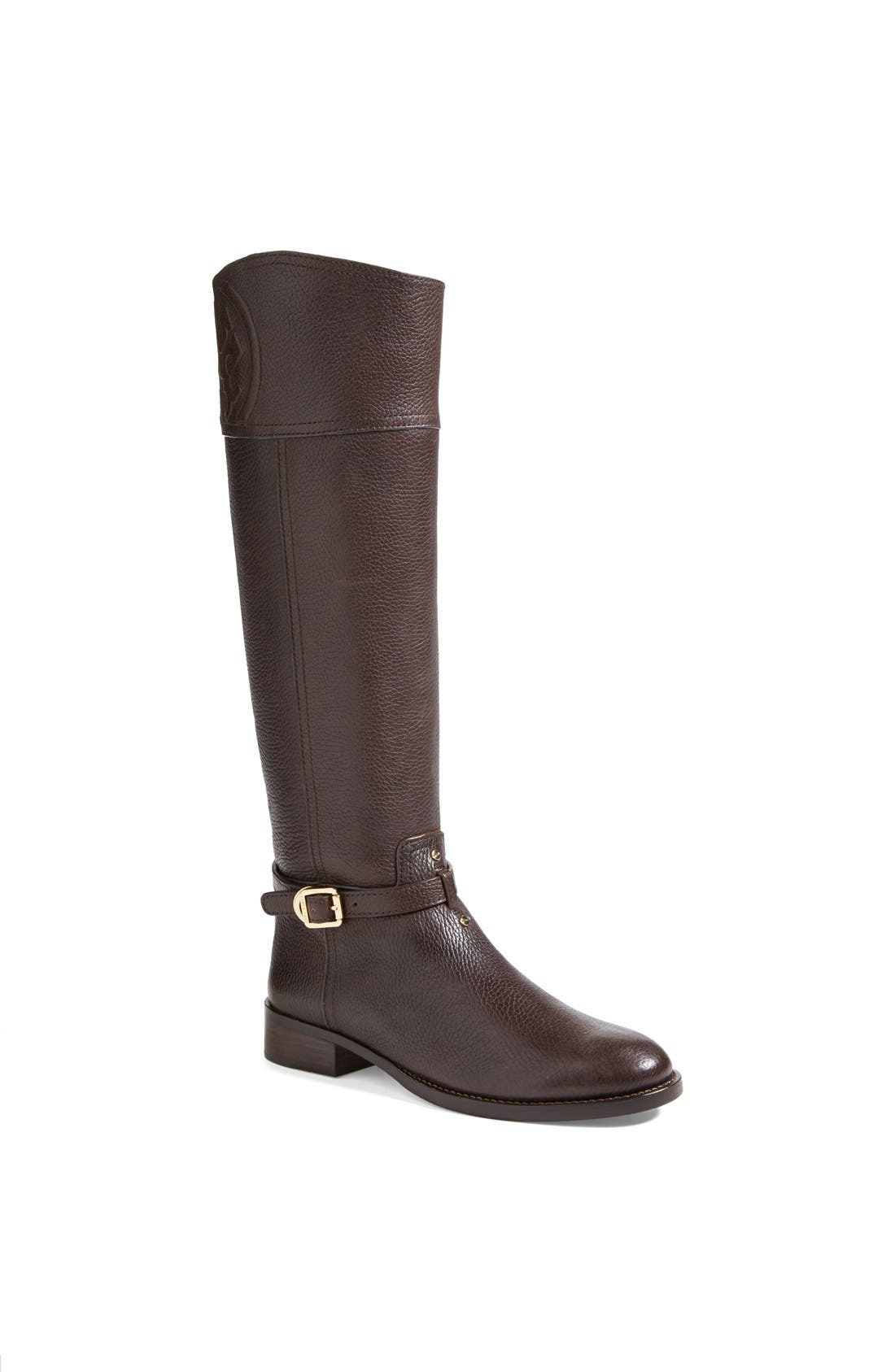 Alternate Image 1 Selected - Tory Burch 'Marlene' Leather Riding Boot