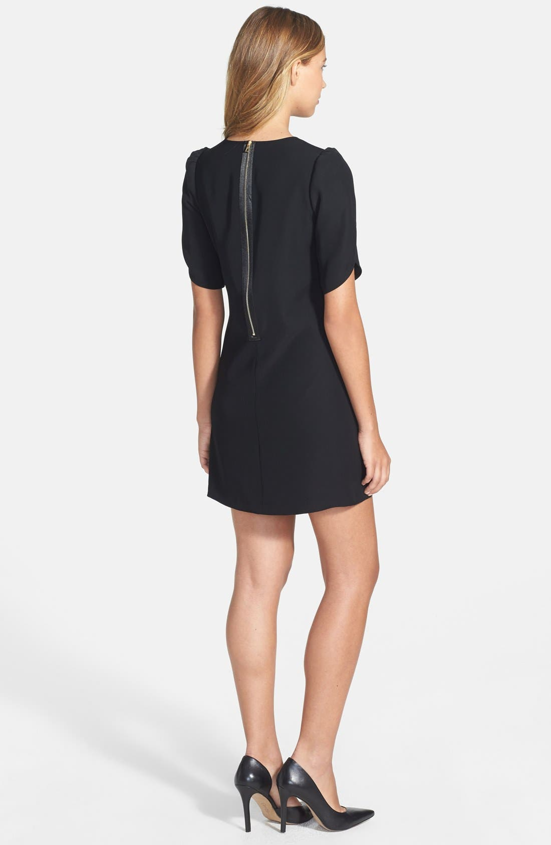 Alternate Image 2  - Cynthia Steffe Tulip Sleeve Crepe Shift Dress