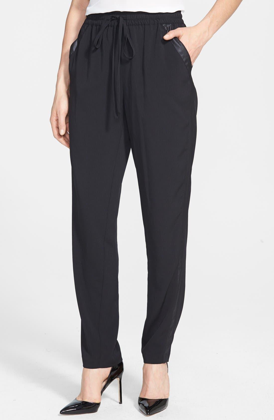 Main Image - kensie Lightweight Stretch Crepe Crop Pants