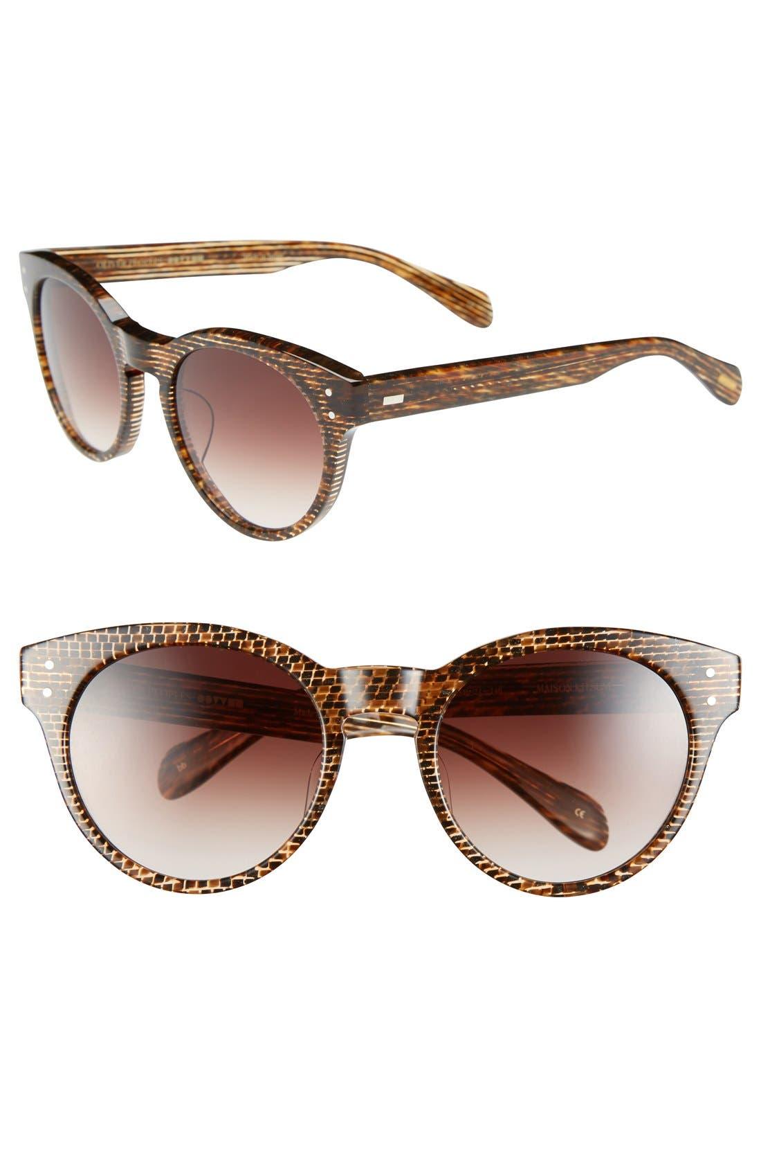 Main Image - Oliver Peoples x Maison Kitsuné 'Paris' 51mm Retro Sunglasses