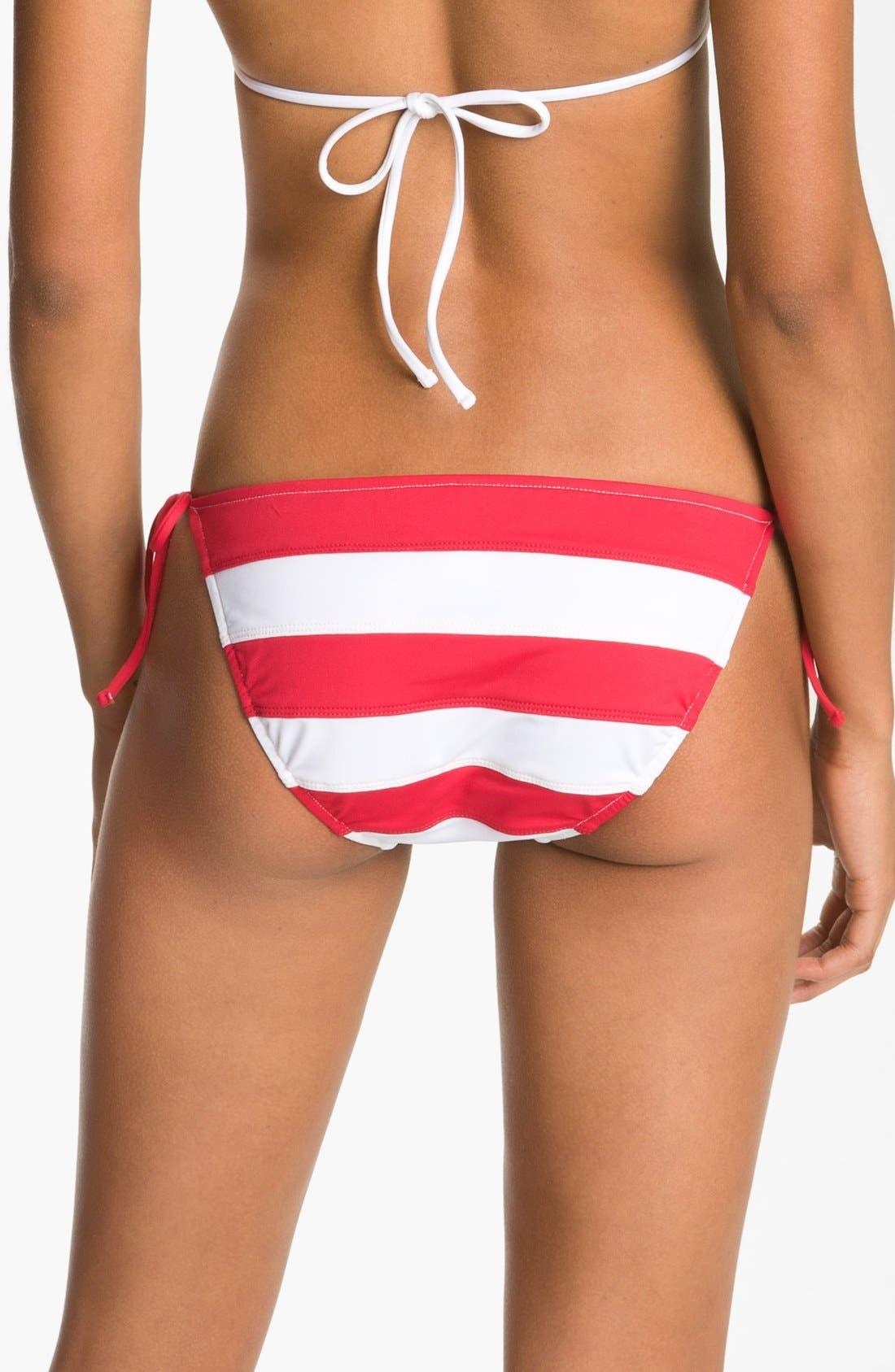 Alternate Image 2  - Ralph Lauren Stripe Side Tie Bikini Bottoms