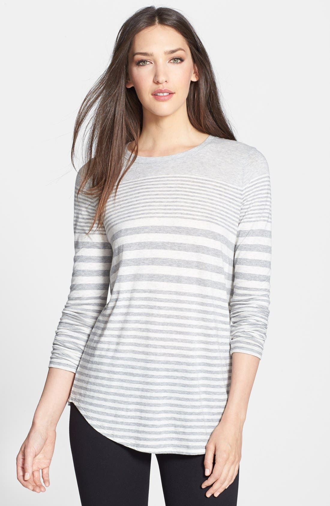 Alternate Image 1 Selected - Vince Variegated Stripe Top