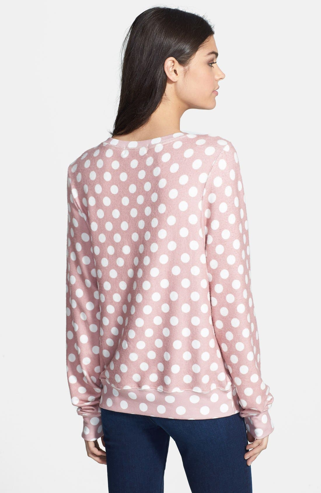 Alternate Image 2  - Wildfox Mauve Dots Pullover (Nordstrom Exclusive)