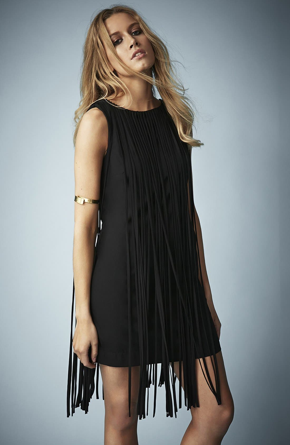 Alternate Image 1 Selected - Kate Moss for Topshop Long Fringed Tassel Dress