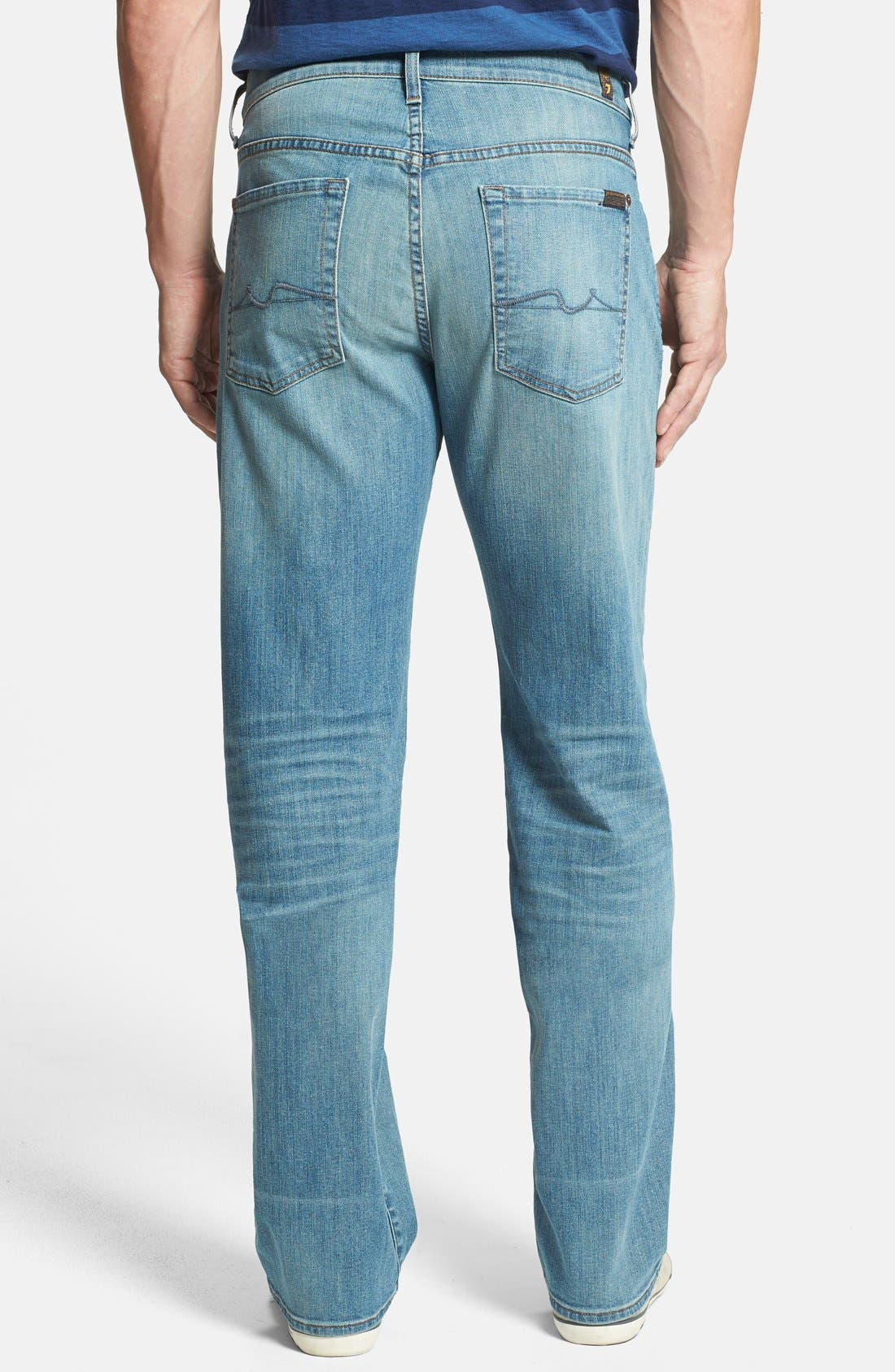 Alternate Image 2  - 7 For All Mankind® 'Austyn' Relaxed Straight Leg Jeans (Authentic Vintage Blue)