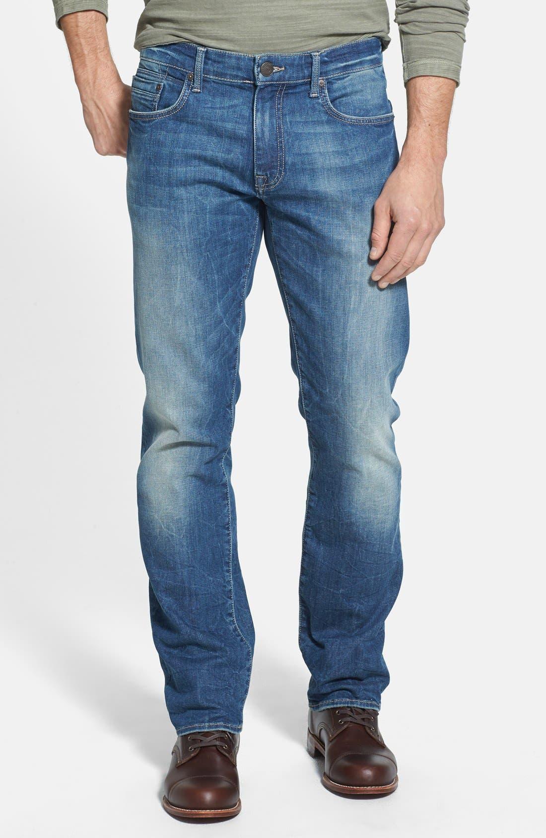 Alternate Image 1 Selected - Mavi Jeans 'Zach' Straight Leg Jeans (Light Used Yaletown)