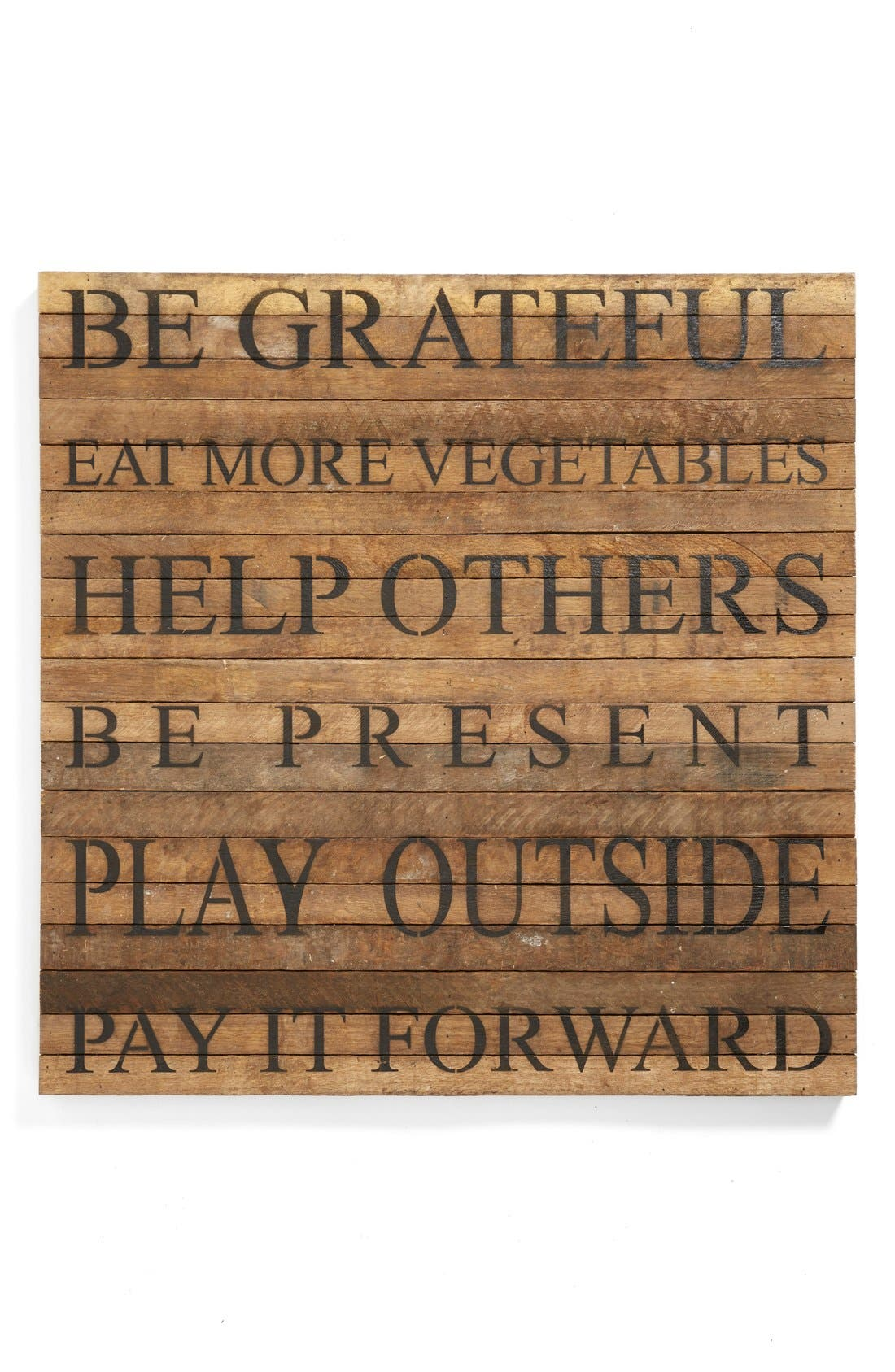 Main Image - Second Nature by Hand 'Be Grateful' Repurposed Wood Wall Art