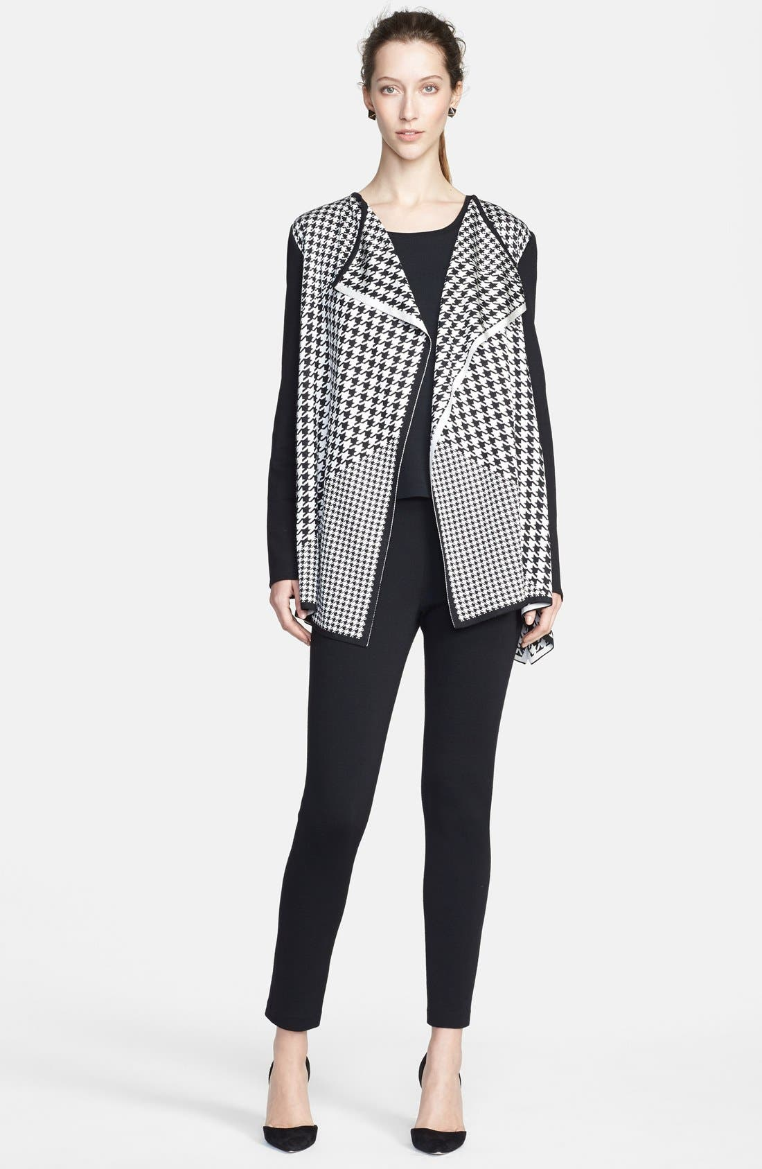 Alternate Image 4  - St. John Collection Multi Scale Houndstooth Jacquard Knit Cardigan