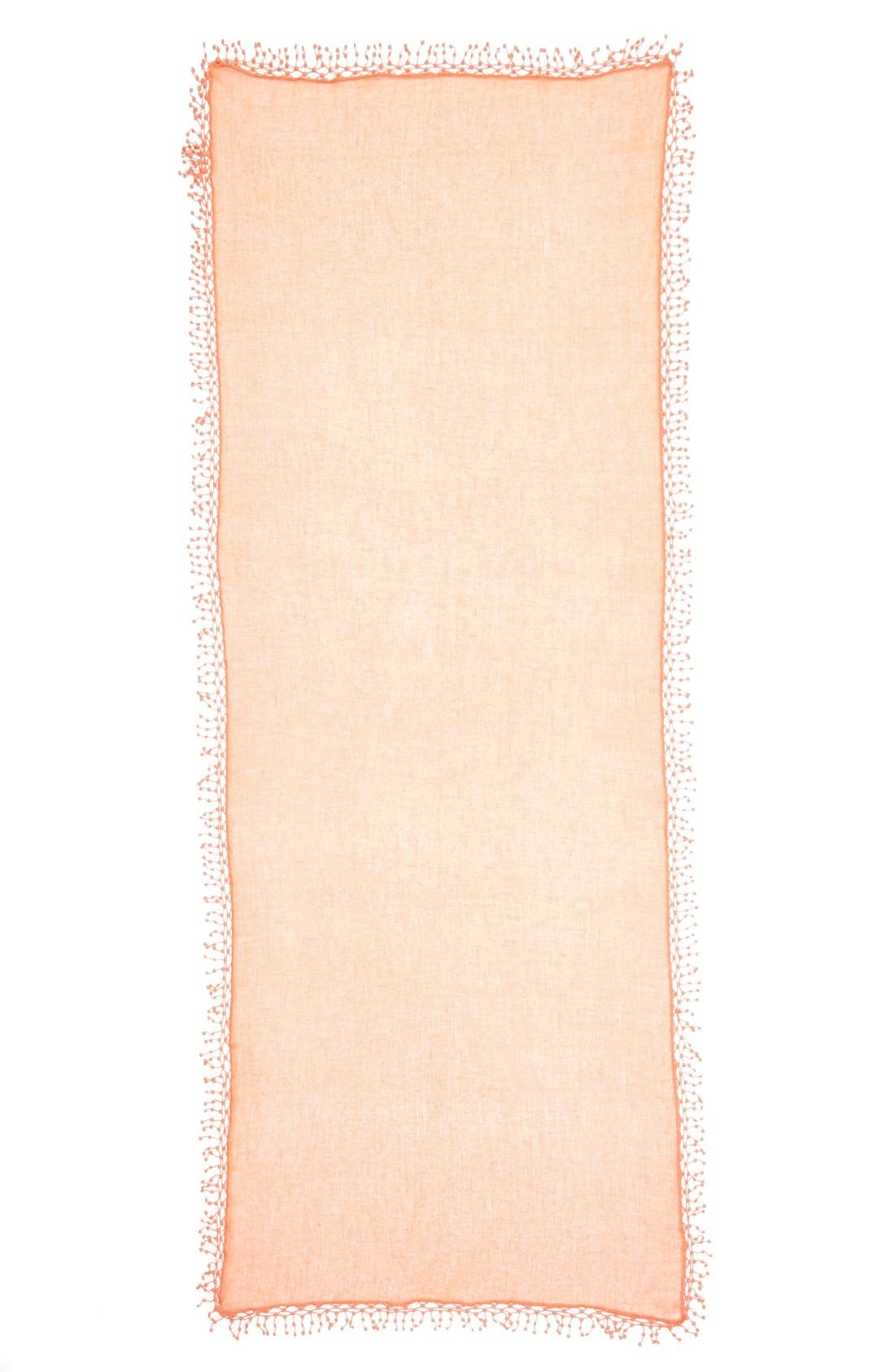 Alternate Image 2  - La Fiorentina 'Pompom' Cashmere Wrap
