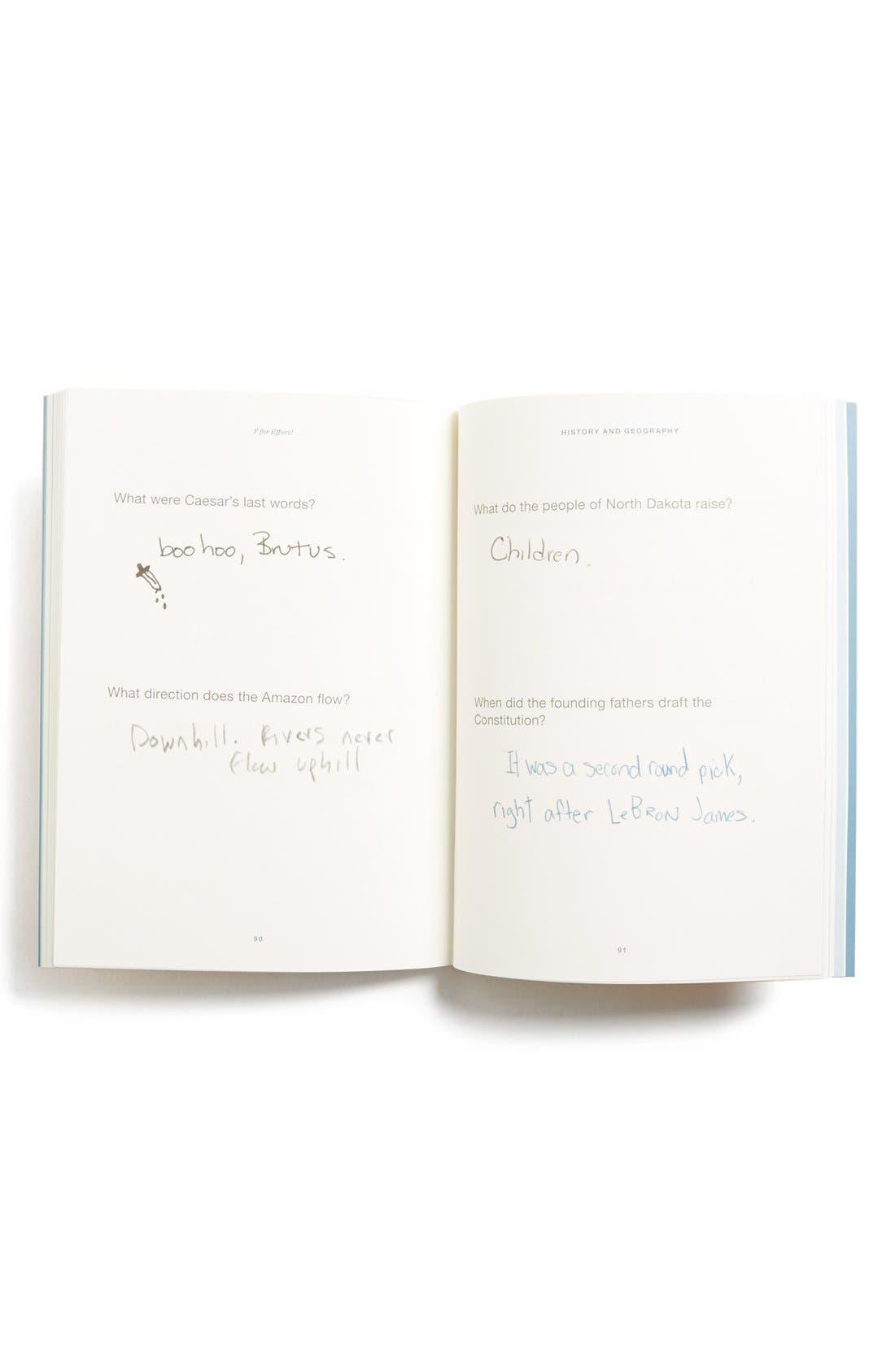 Alternate Image 2  - 'F for Effort' Book