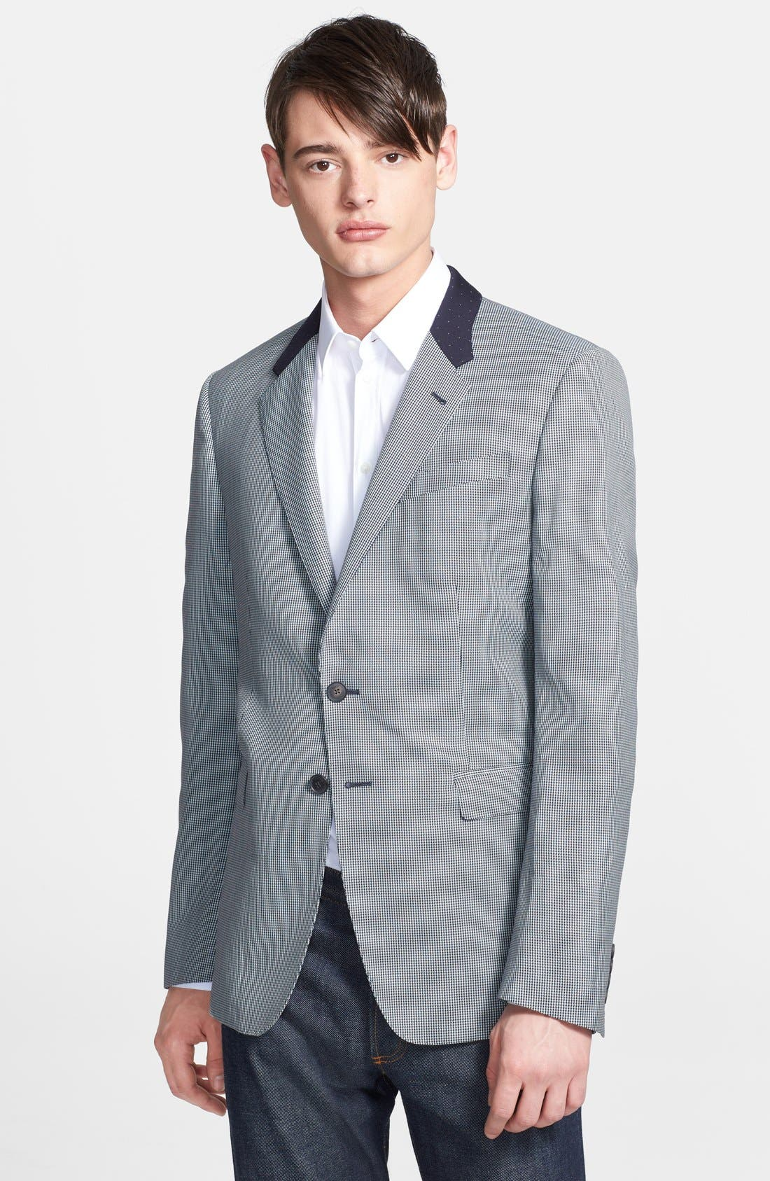 Alternate Image 1 Selected - Paul Smith London 'Byard' Contrast Houndstooth Wool Sportcoat