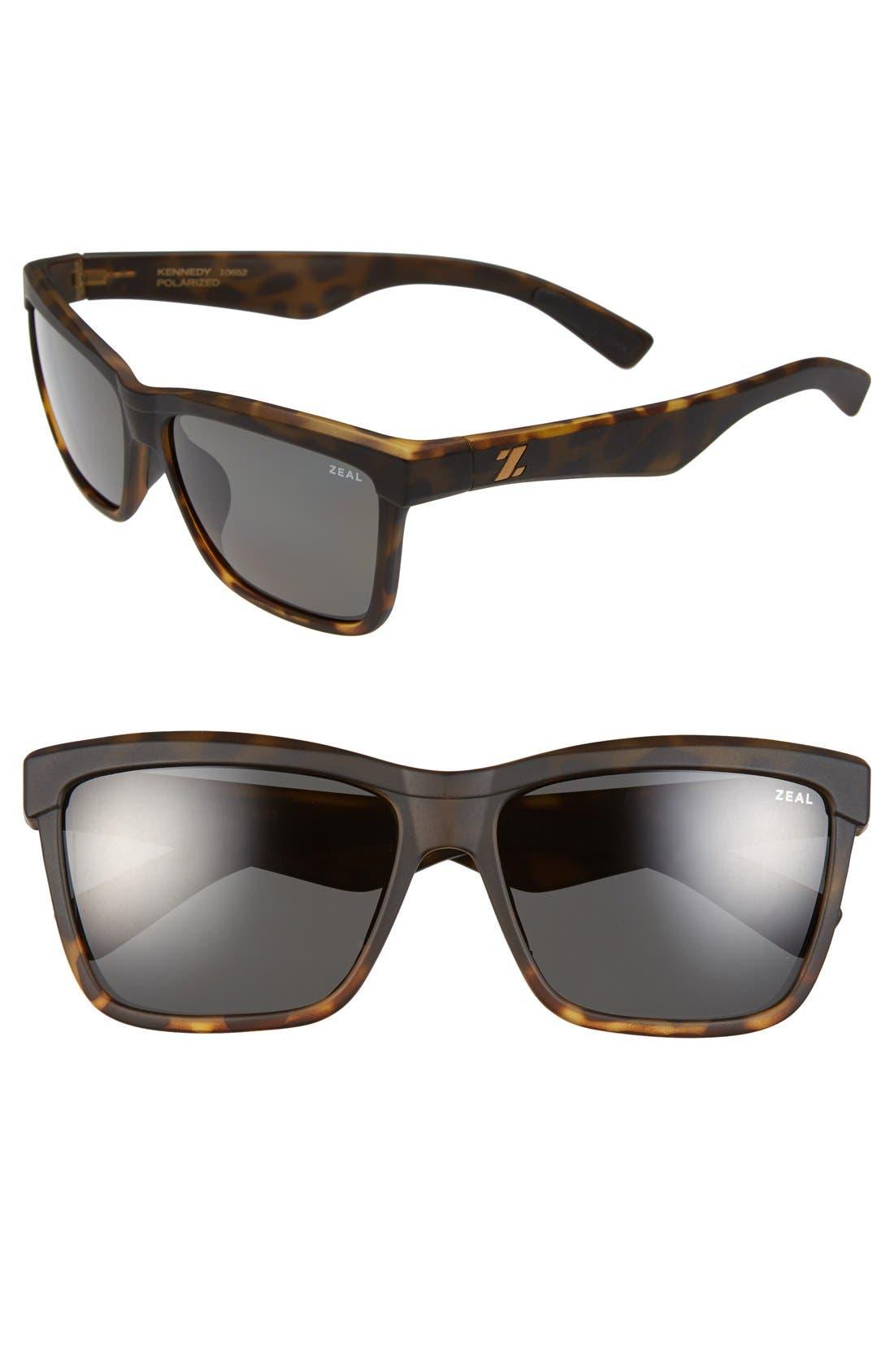 Alternate Image 1 Selected - Zeal Optics 'Kennedy' 56mm Polarized Plant Based Retro Sunglasses