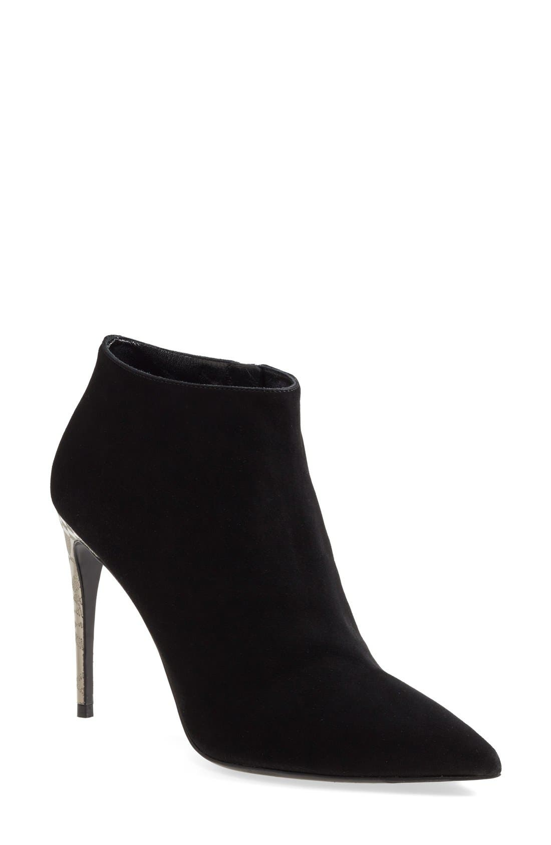 Alternate Image 1 Selected - Burberry 'Estover' Engraved Heel Suede Boot