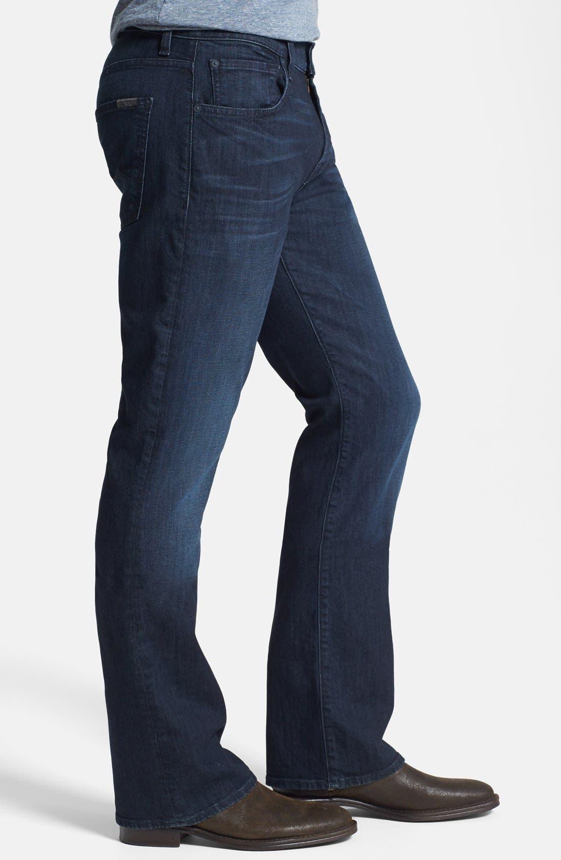Alternate Image 3  - 7 For All Mankind® 'Brett' Bootcut Jeans (Sunset Hill Blue) (Online Only)