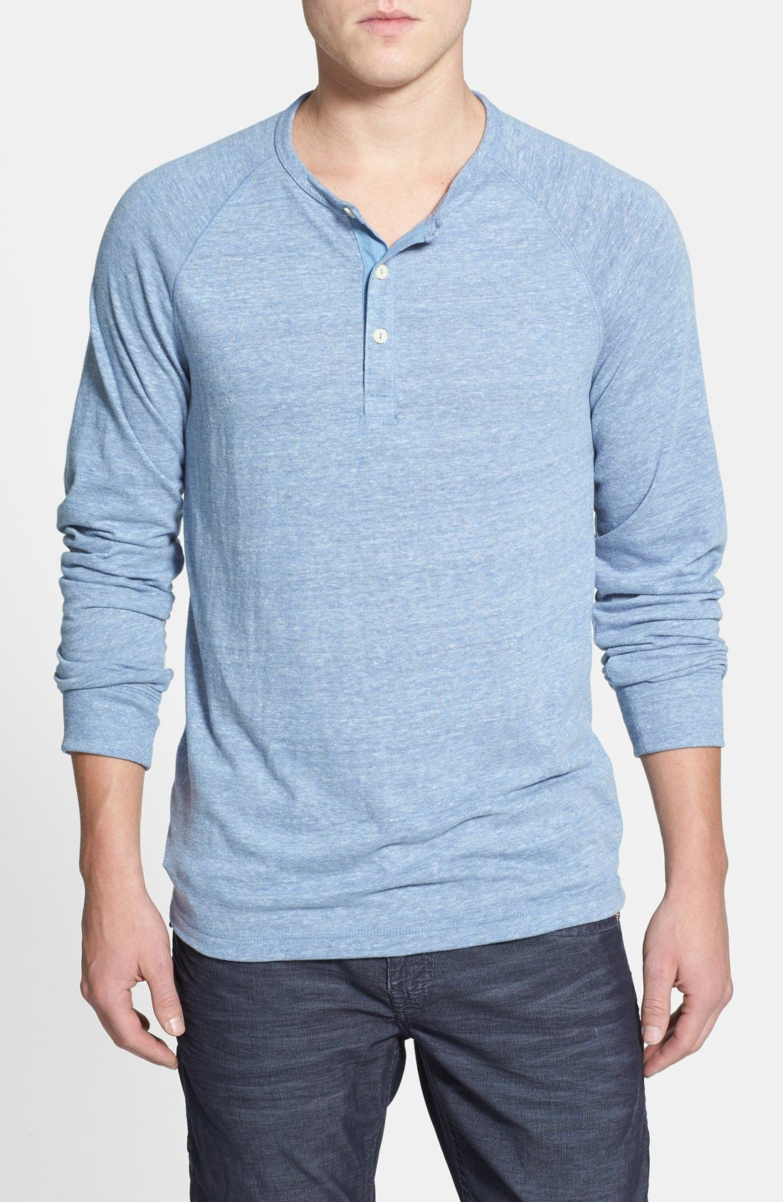 Main Image - Lucky Brand Garment Washed Henley (Online Only)