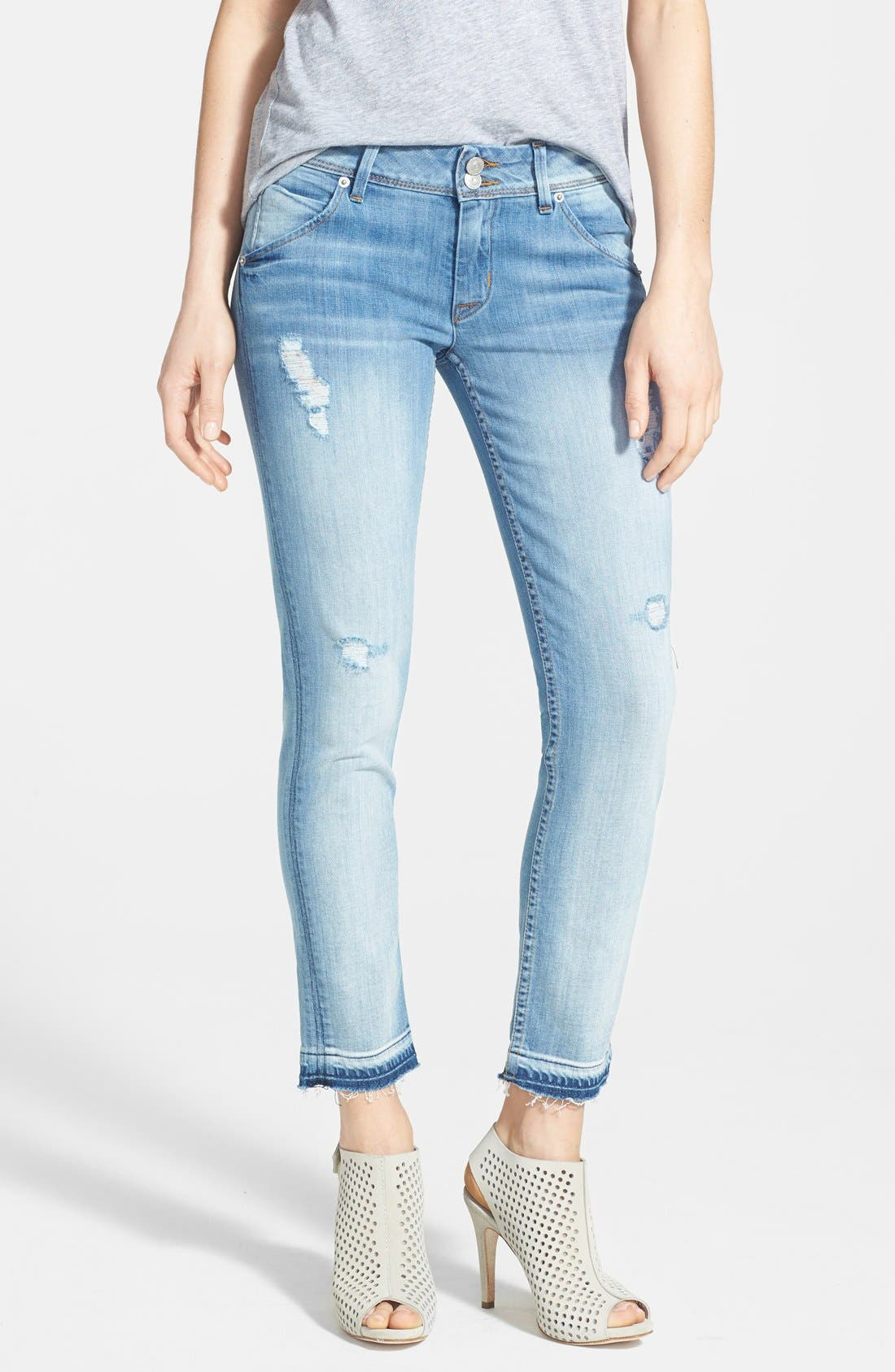 Main Image - Hudson Jeans 'Collin' Crop Skinny Jeans (Ladyland)