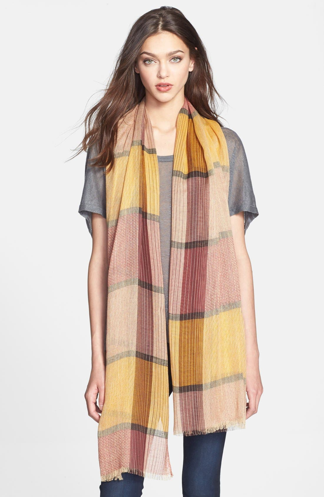 Main Image - Hinge Oversized Plaid Scarf